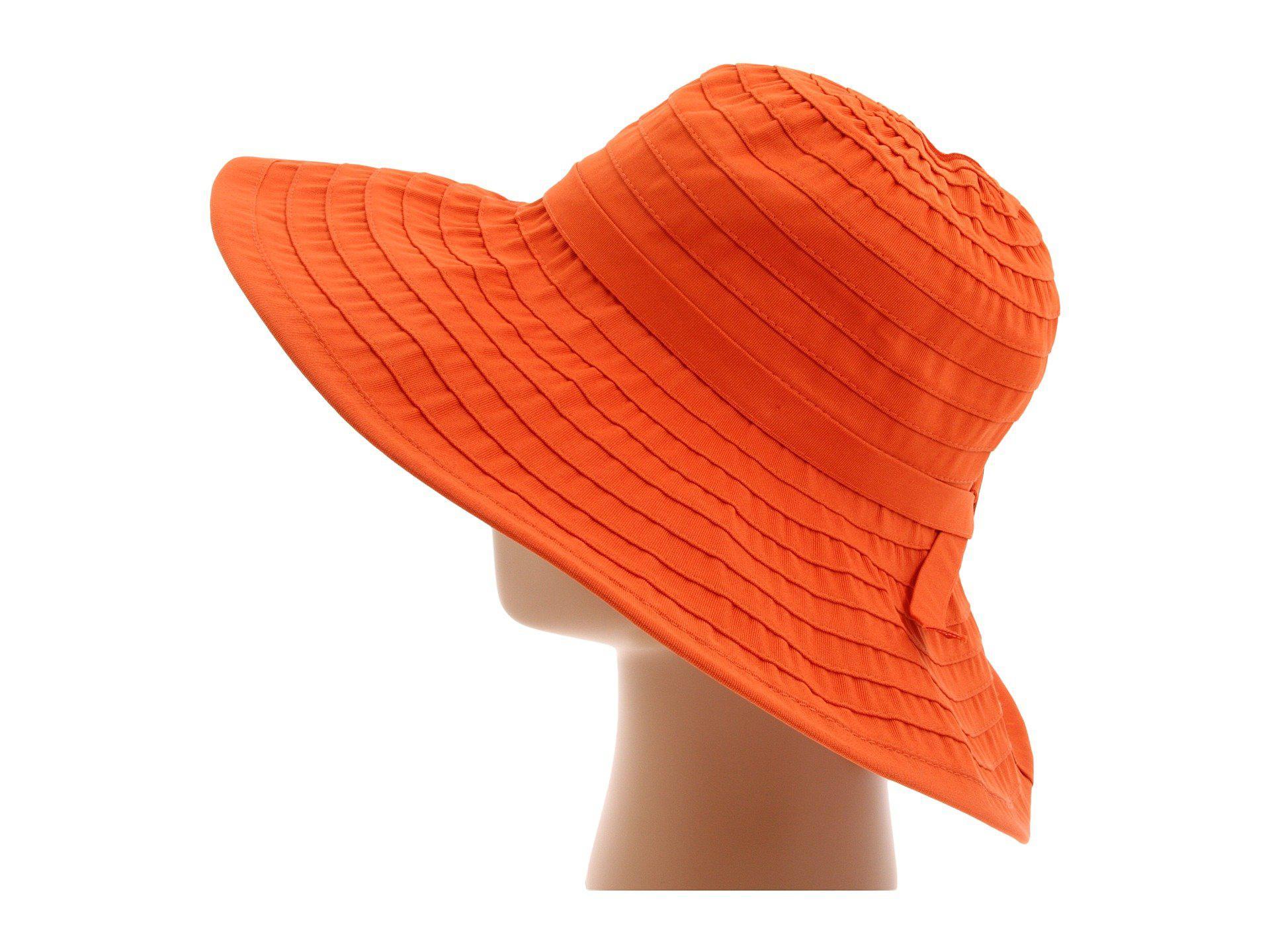 77bb744f1c9b2 San Diego Hat Company - Orange Rbl299 Crushable Ribbon Floppy Hat (lemon)  Traditional Hats. View fullscreen