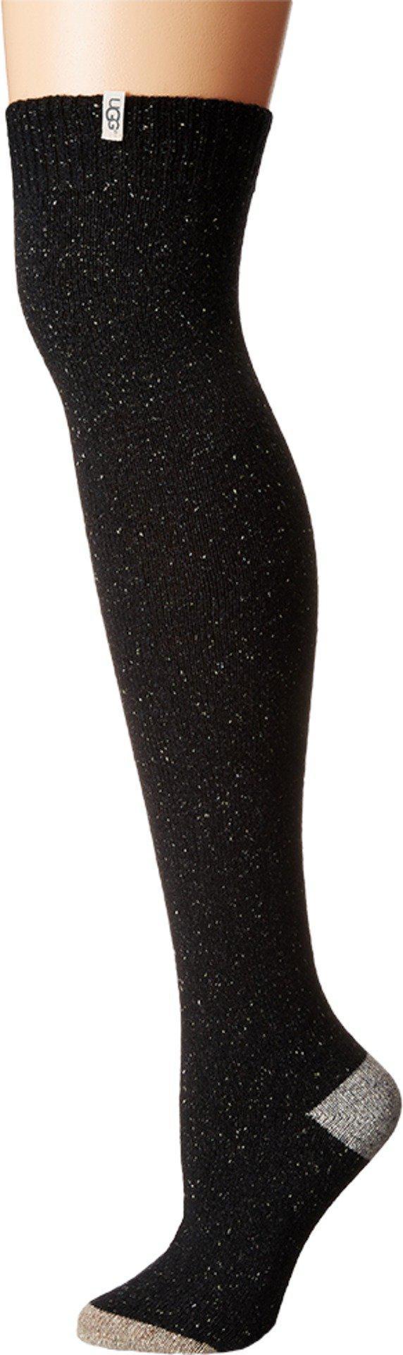 09be1f025 Lyst - UGG Color Block Rib Over The Knee Socks in Black