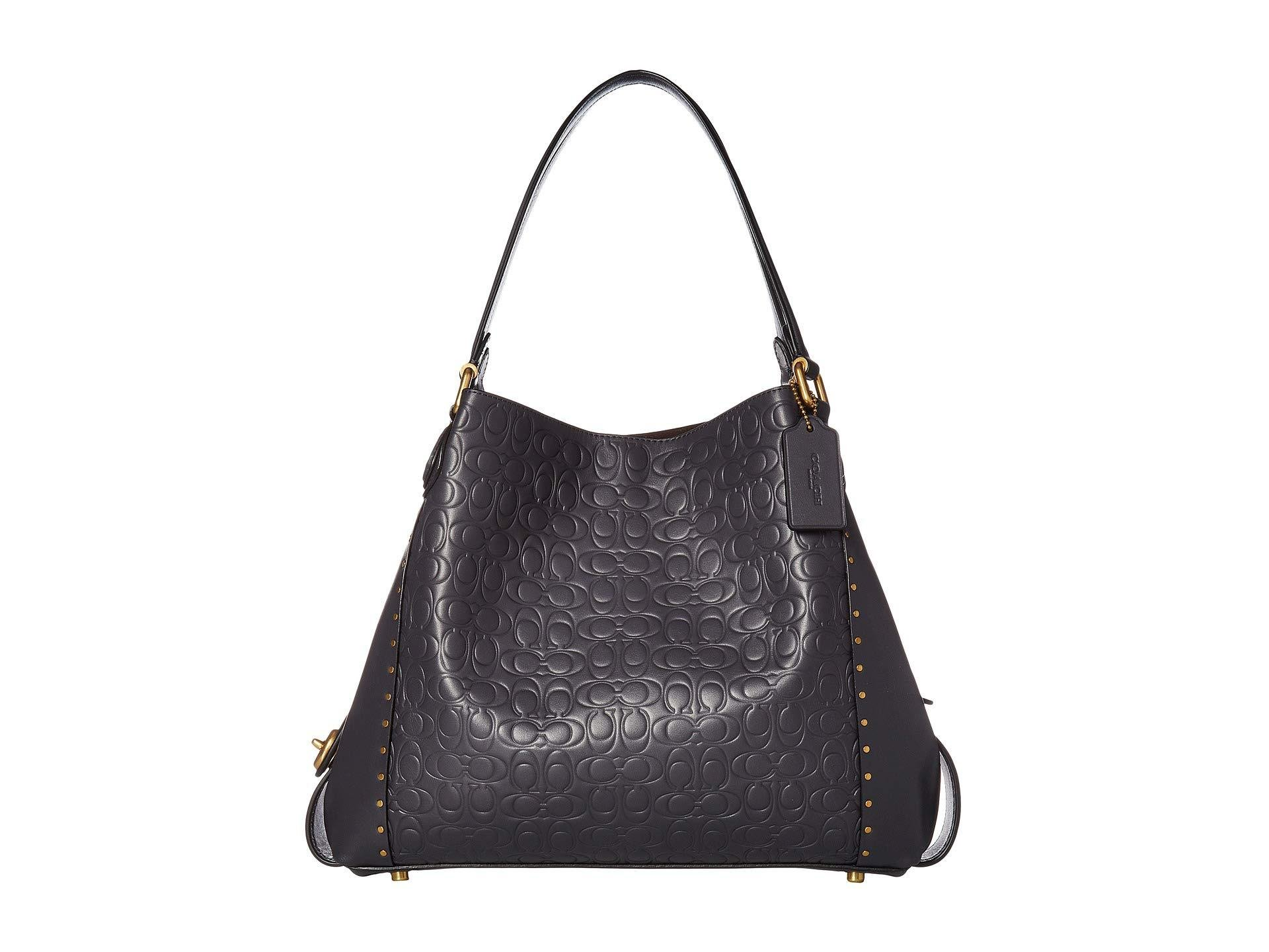 10e7a292bd27 Lyst - COACH Edie 31 Shoulder Bag In Signature Leather (b4 midnight ...
