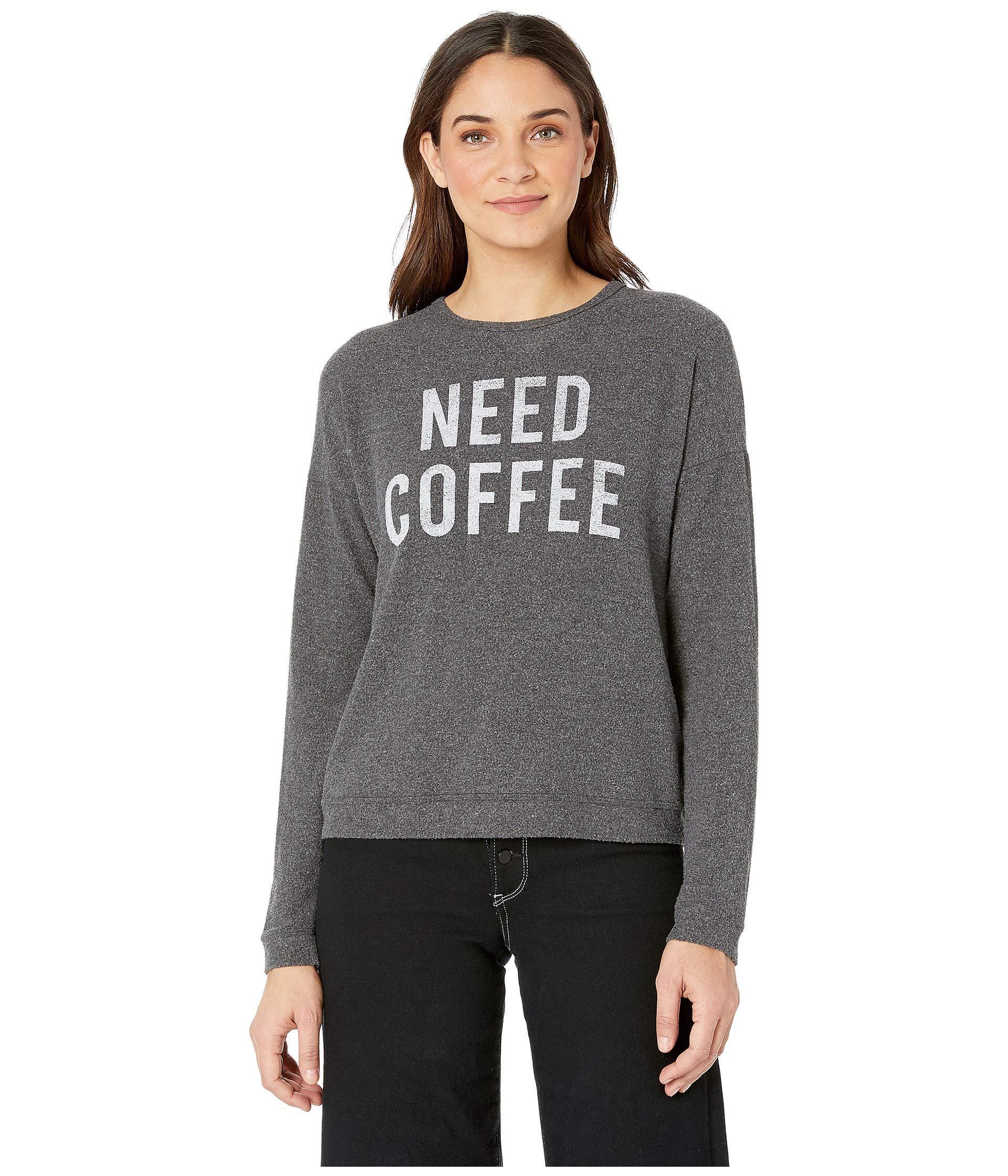 d31f12f611b Lyst - The Original Retro Brand Need Coffee Hacci Supersoft Pullover ...