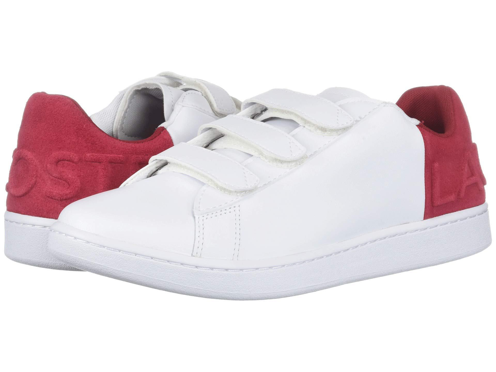 b6475ef84 Lyst - Lacoste Carnaby Evo Strap 318 1 (white red) Men s Shoes in ...