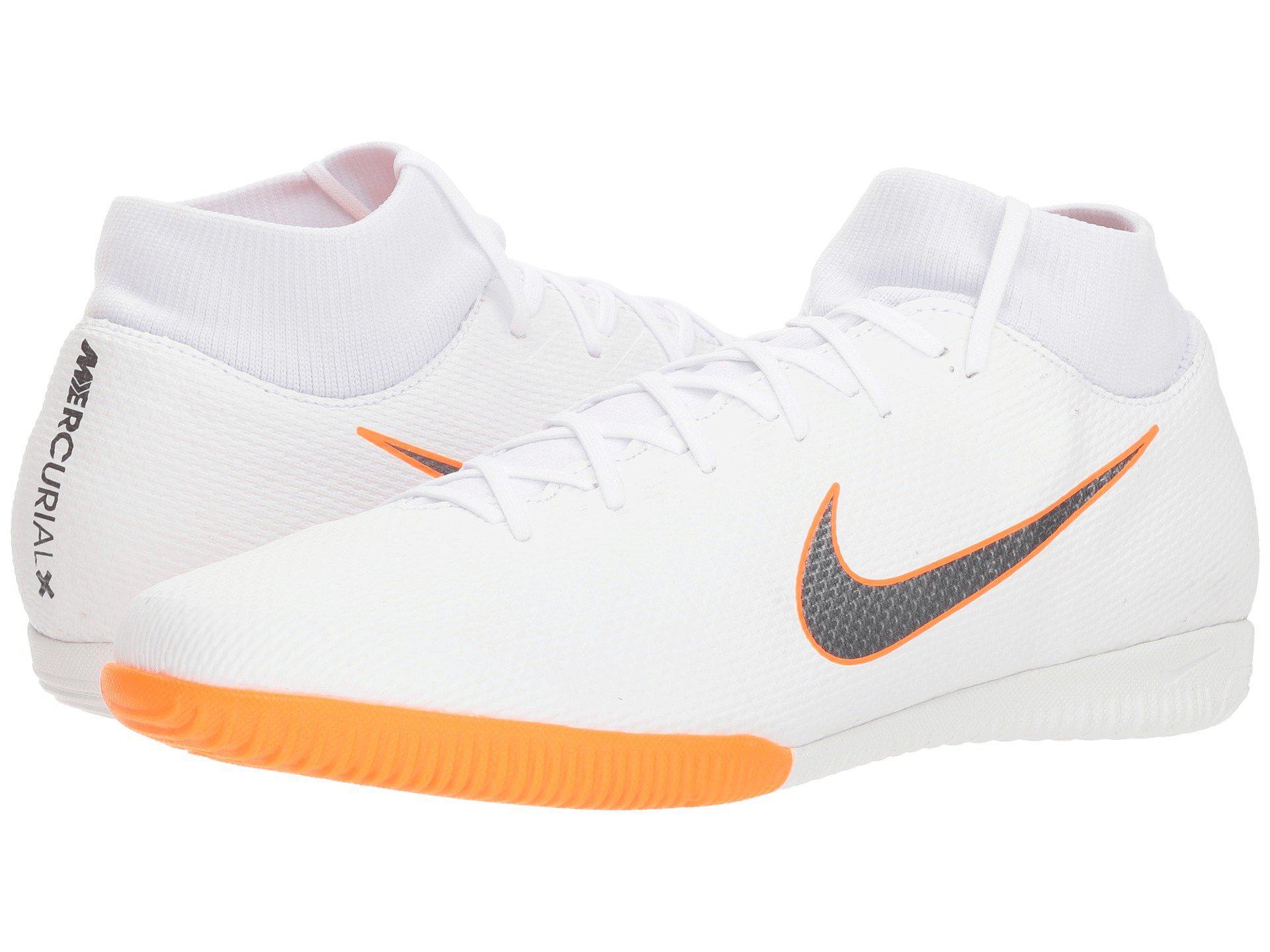 908fa81d5 Nike Superflyx 6 Academy Ic (white metallic Cool Grey total Orange ...