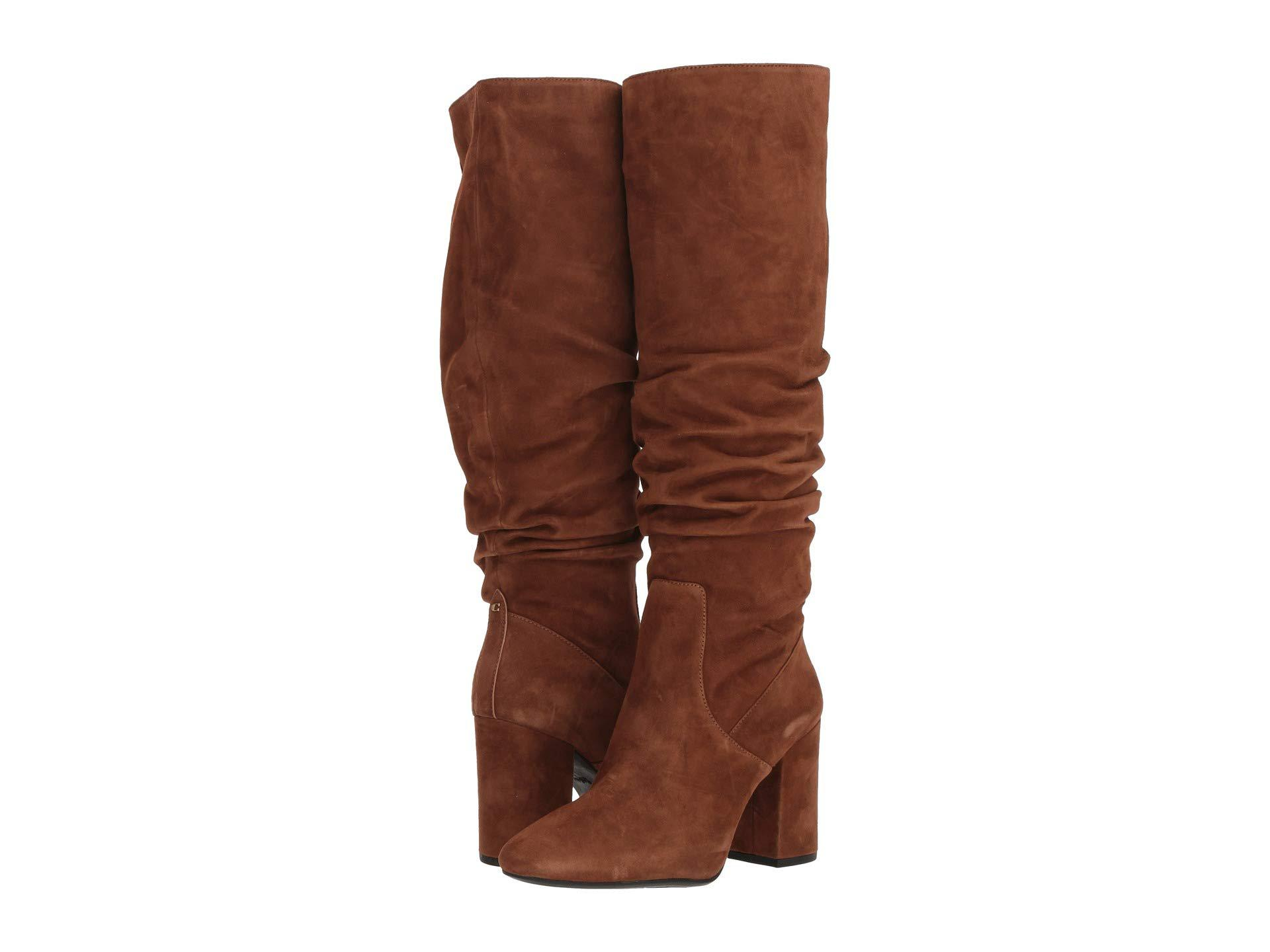 4e09398b1ad Lyst - COACH Graham Slouchy Heel Boot (cognac Suede) Women s Boots ...