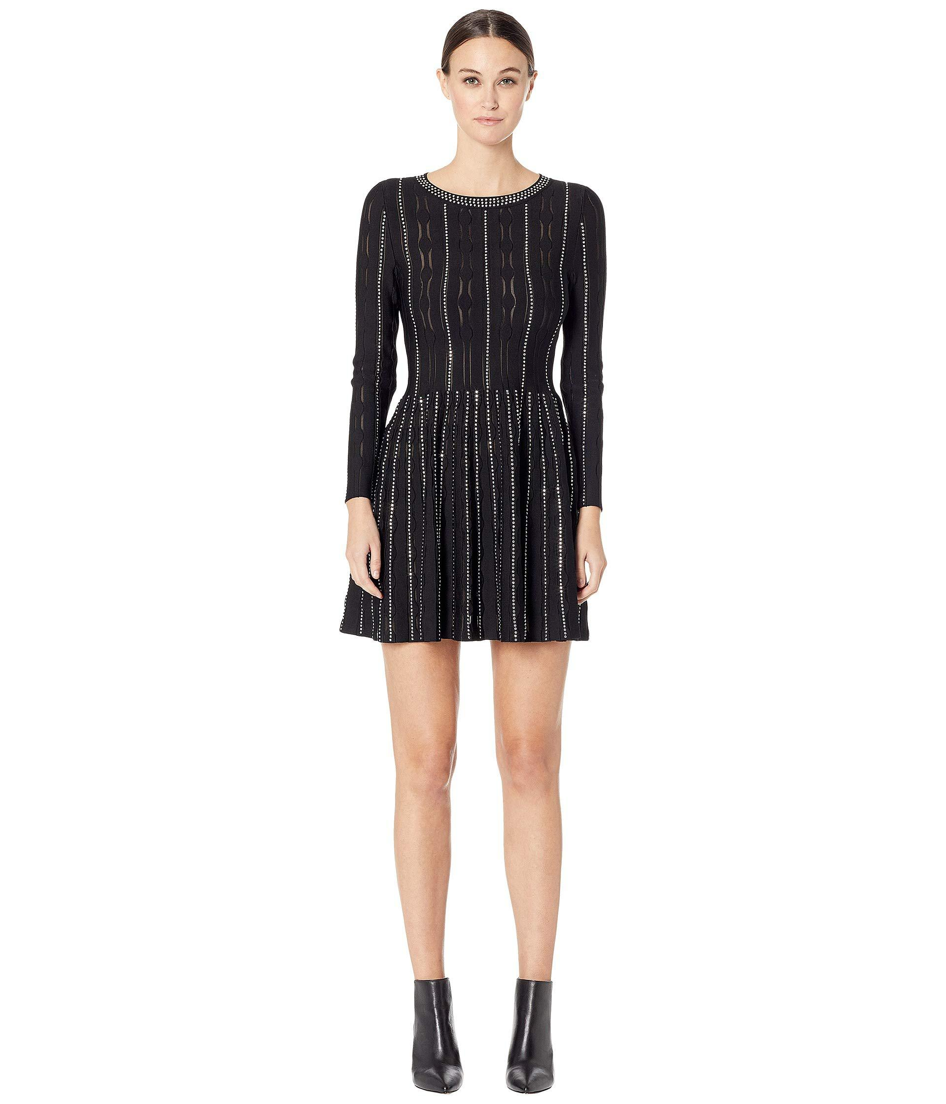 268e7360cac The Kooples Studded Sweater Dress in Black - Save 24% - Lyst