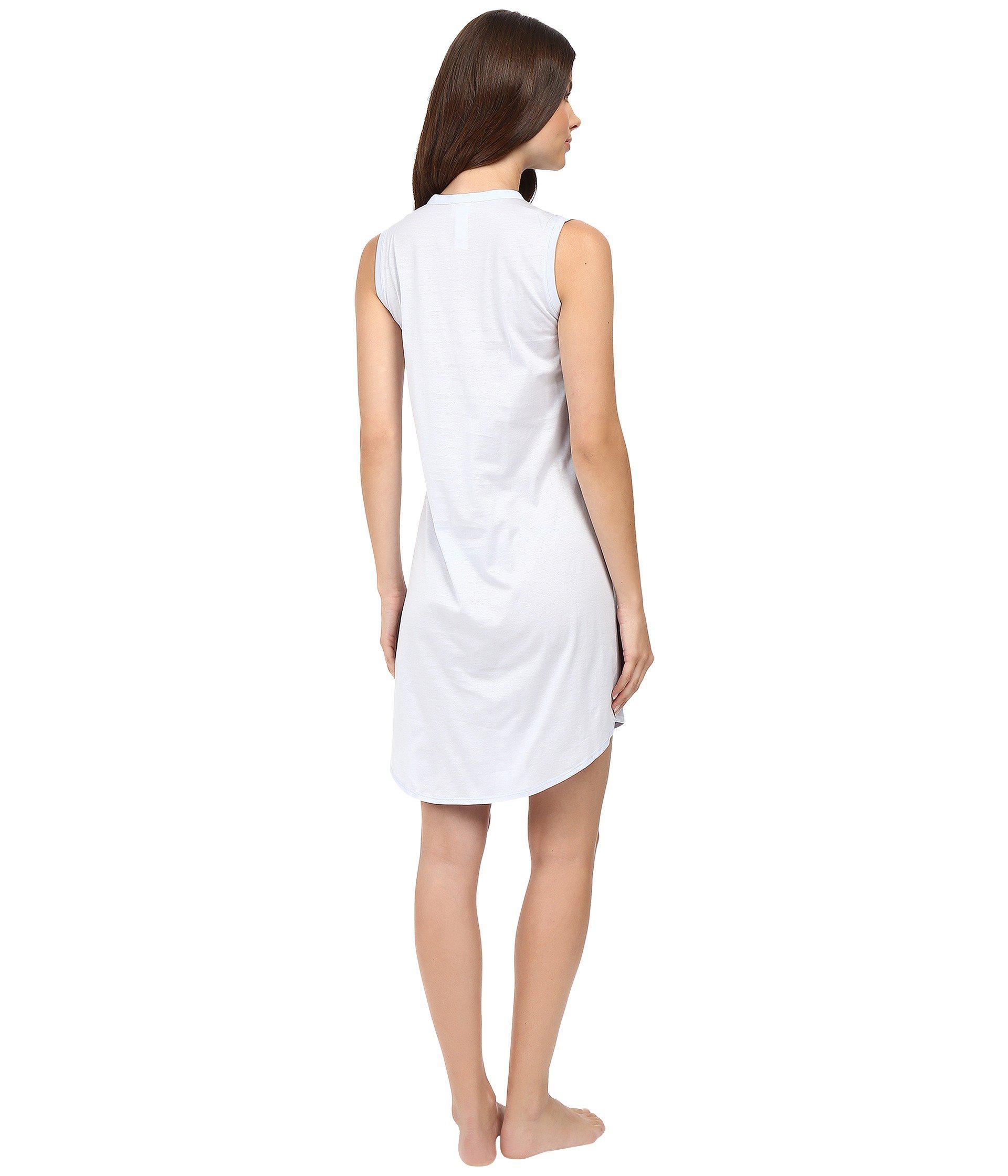 f756279877 Hanro - White Cotton Deluxe Button Front Tank Nightgown (tender Rose)  Women s Pajama -. View fullscreen