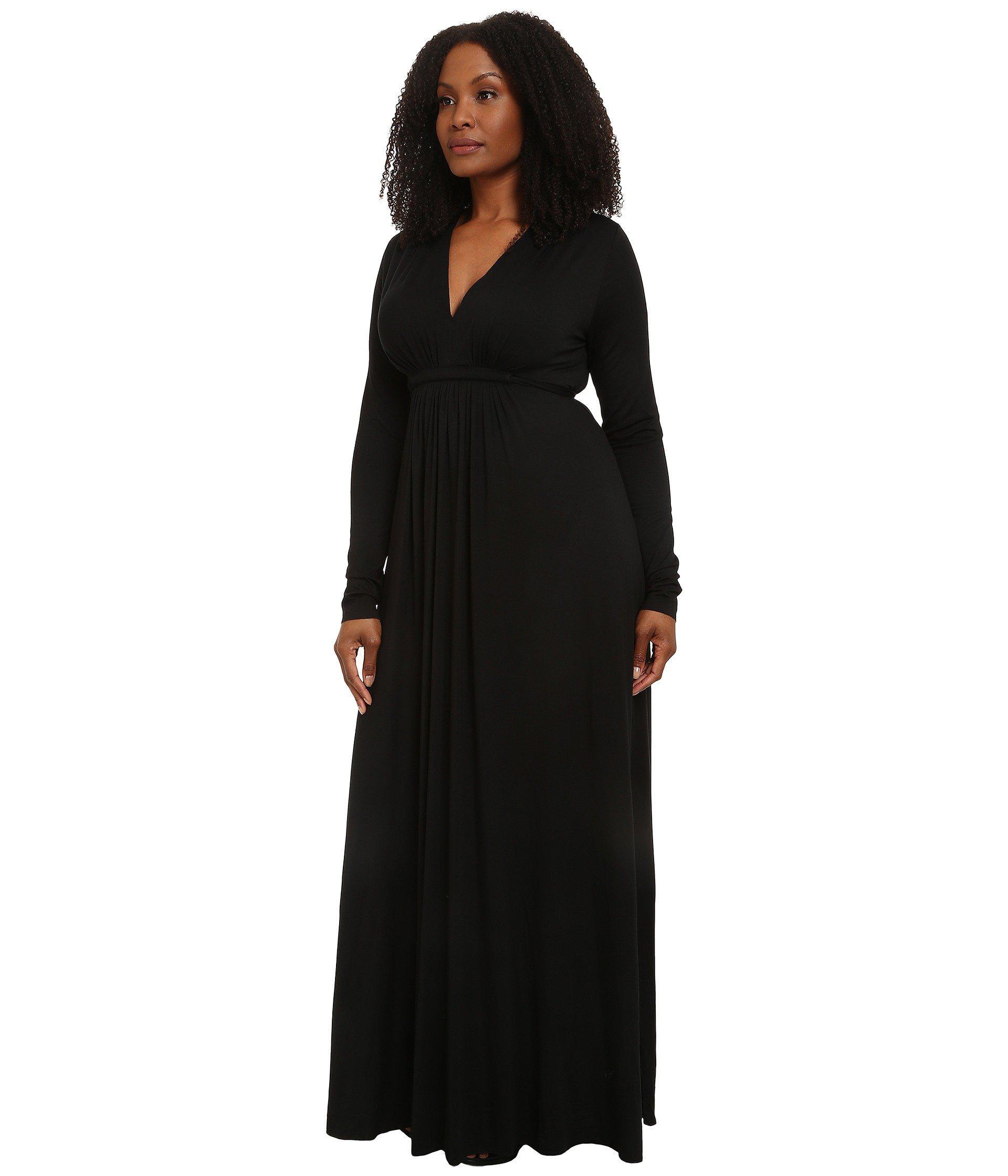 f0fc93a156f55 Lyst - Rachel Pally Plus Size Long Sleeve Full Length Caftan (cream)  Women s Dress in Black