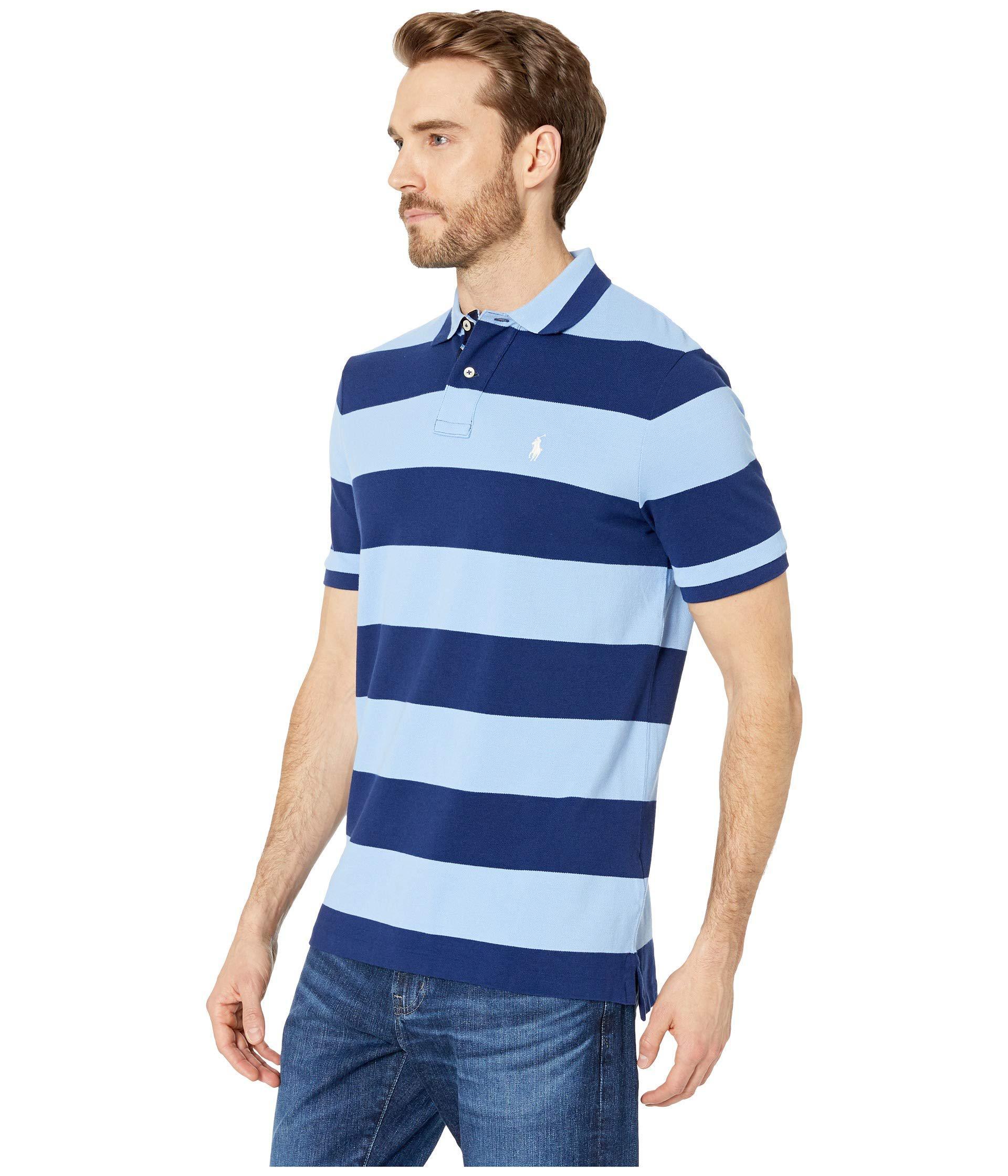 e19fafdb Lyst - Polo Ralph Lauren Yarn-dyed Mesh Short Sleeve Knit (cruise  Royal/white) Men's Clothing in Blue for Men