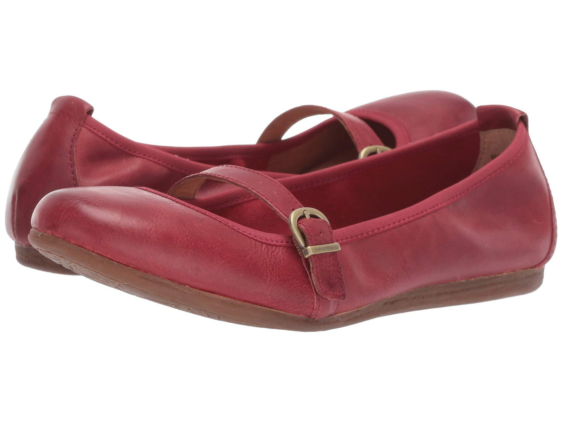 d3630ea11332 Lyst - Born Curlew (black Full Grain Leather) Women s Flat Shoes in Red
