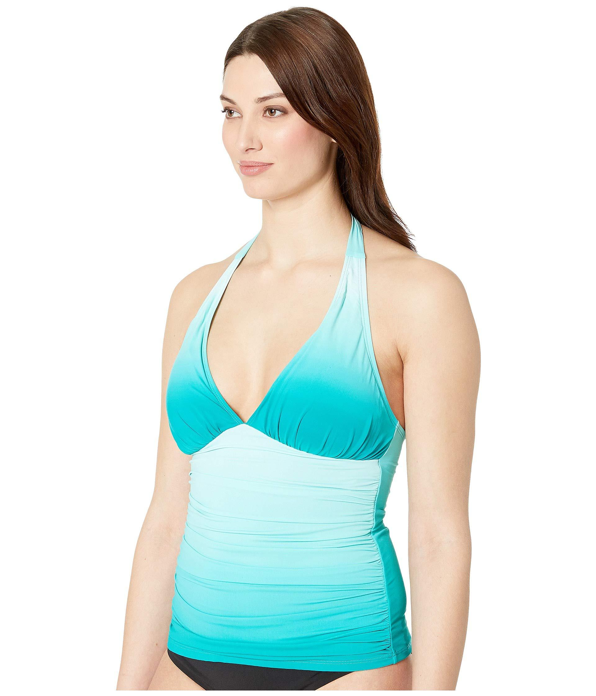5f1d5fdcc4 Lyst - Bleu Rod Beattie Halter Tankini W/ Molded Cup (sea Dive) Women's  Swimwear in Blue