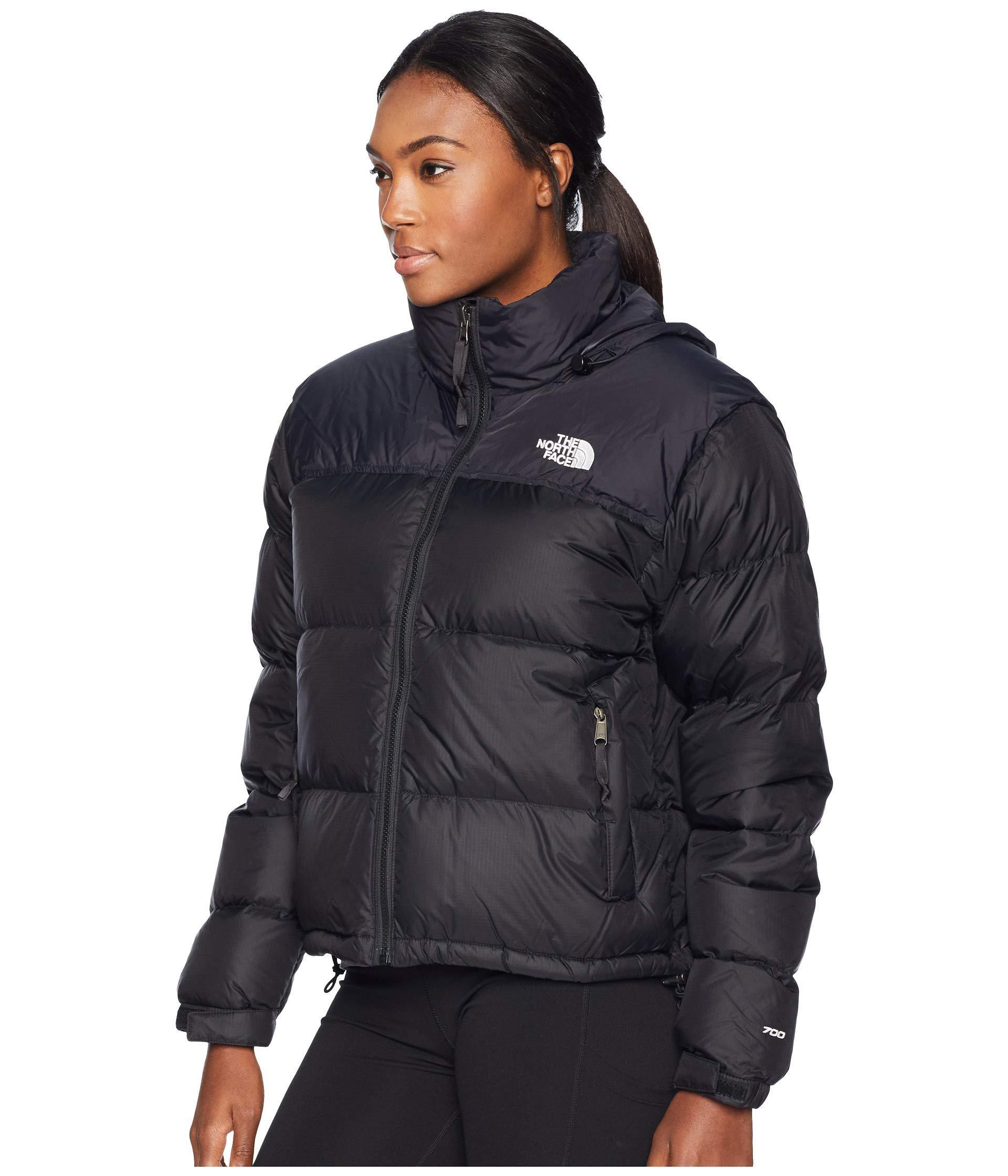 Lyst - The North Face 1996 Retro Nuptse Jacket (tnf Medium Grey Heather) Women s  Coat in Black 3239e1e5e