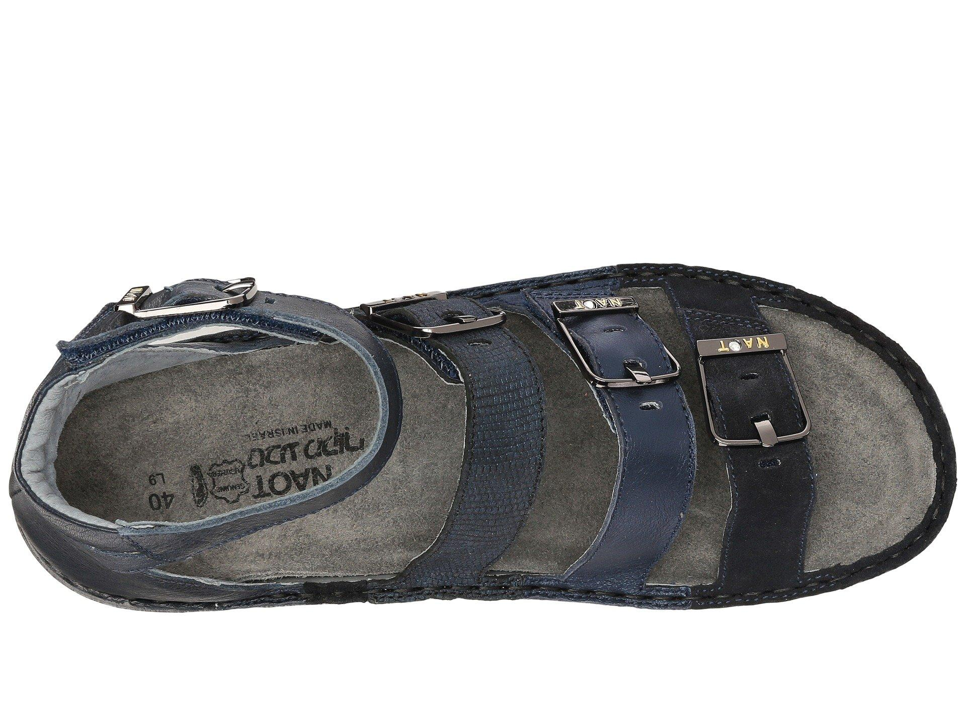 Naot Multicolor Begonia (black Velvet Nubuckmetallic Road Leatherblack Leather Combo) Women's Sandals