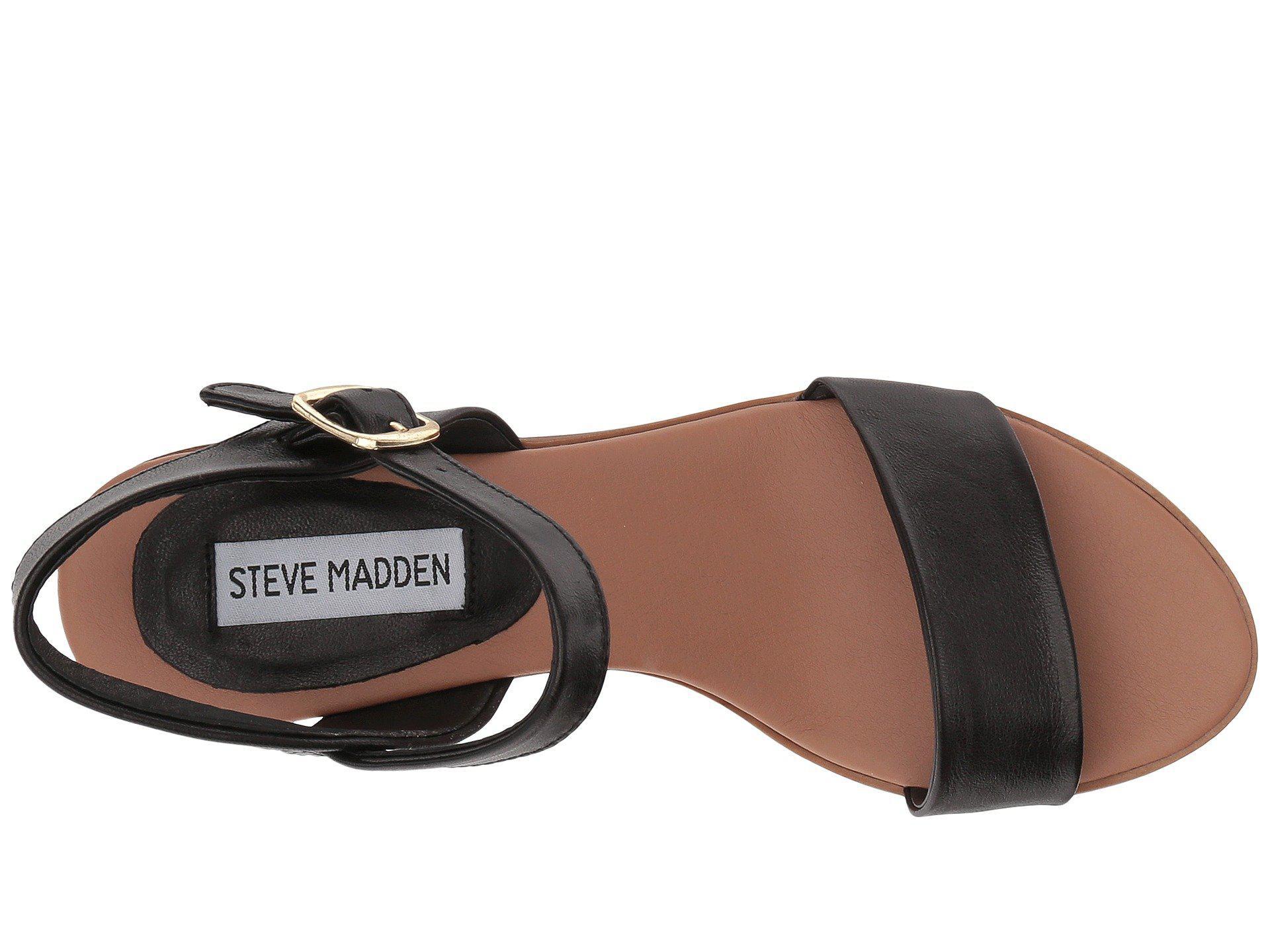 dc8b7e4869a Steve Madden - Black April Block Heel Sandal (cognac Leather) Women s Shoes  - Lyst. View fullscreen