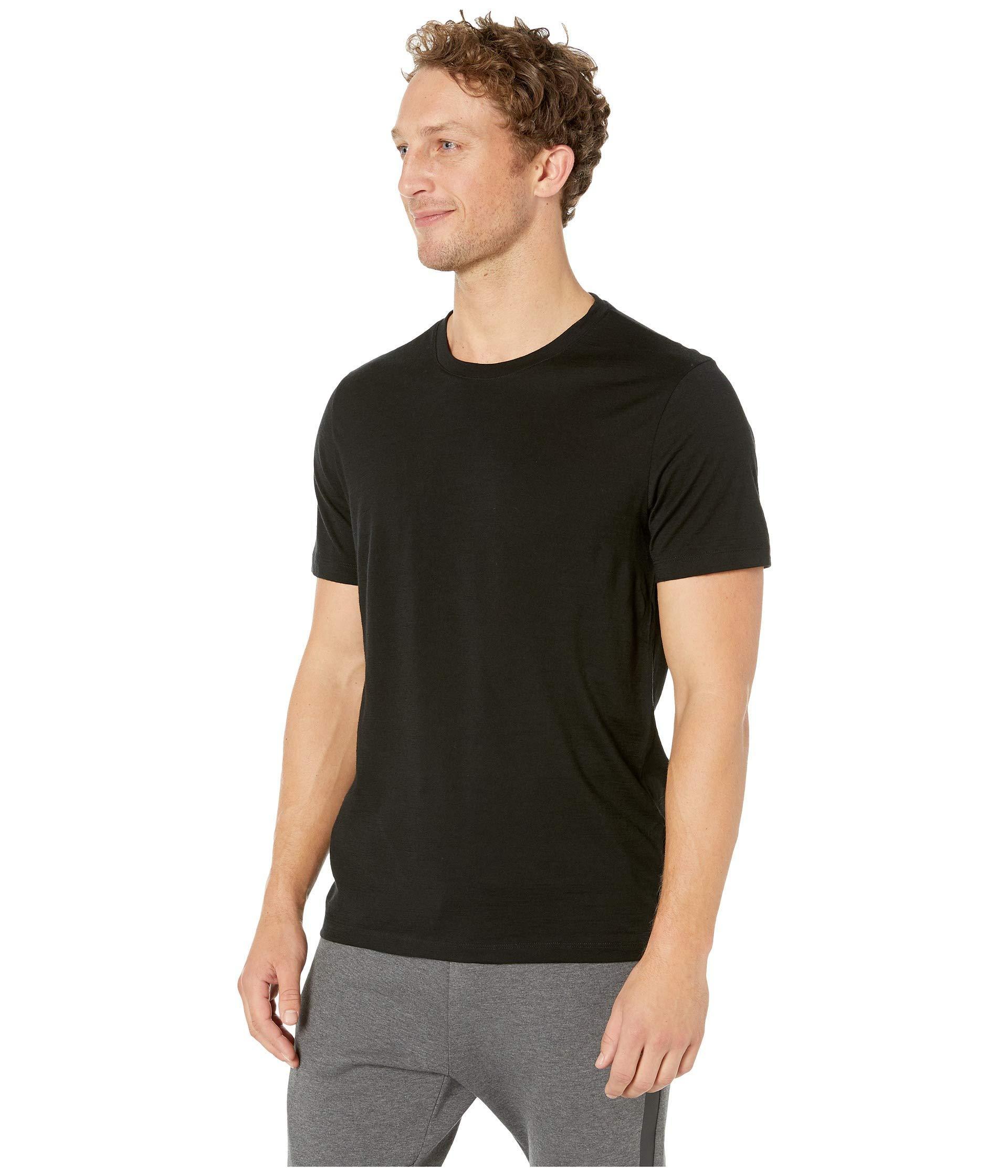 078b73db Lyst - Icebreaker Tech Lite Short Sleeve Crewe (gritstone Heather 1) Men's  Clothing in Black for Men