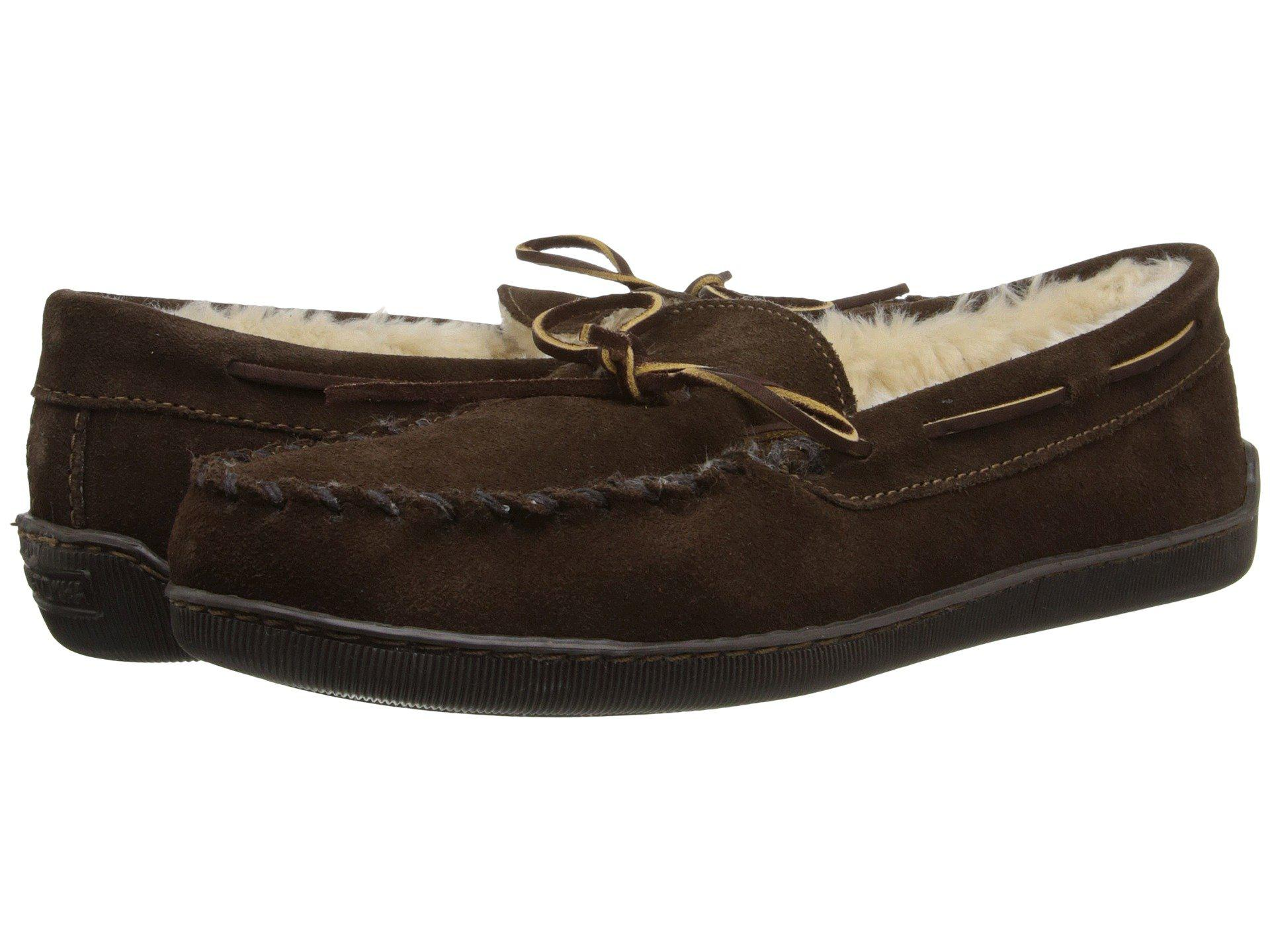 43a6a0057e190 Lyst - Minnetonka Pile Lined Hardsole (chocolate Suede) Men s Shoes ...