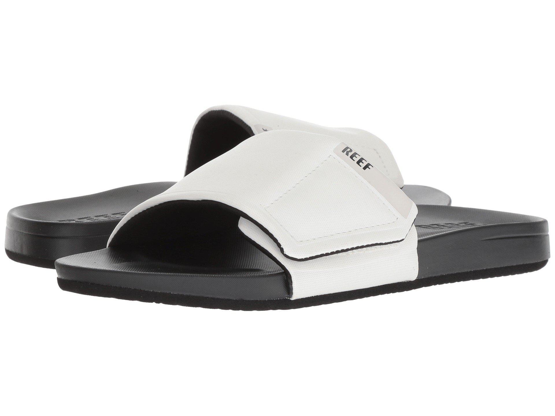 Cushion Bounce Slide Black White Logo Men S Sandals