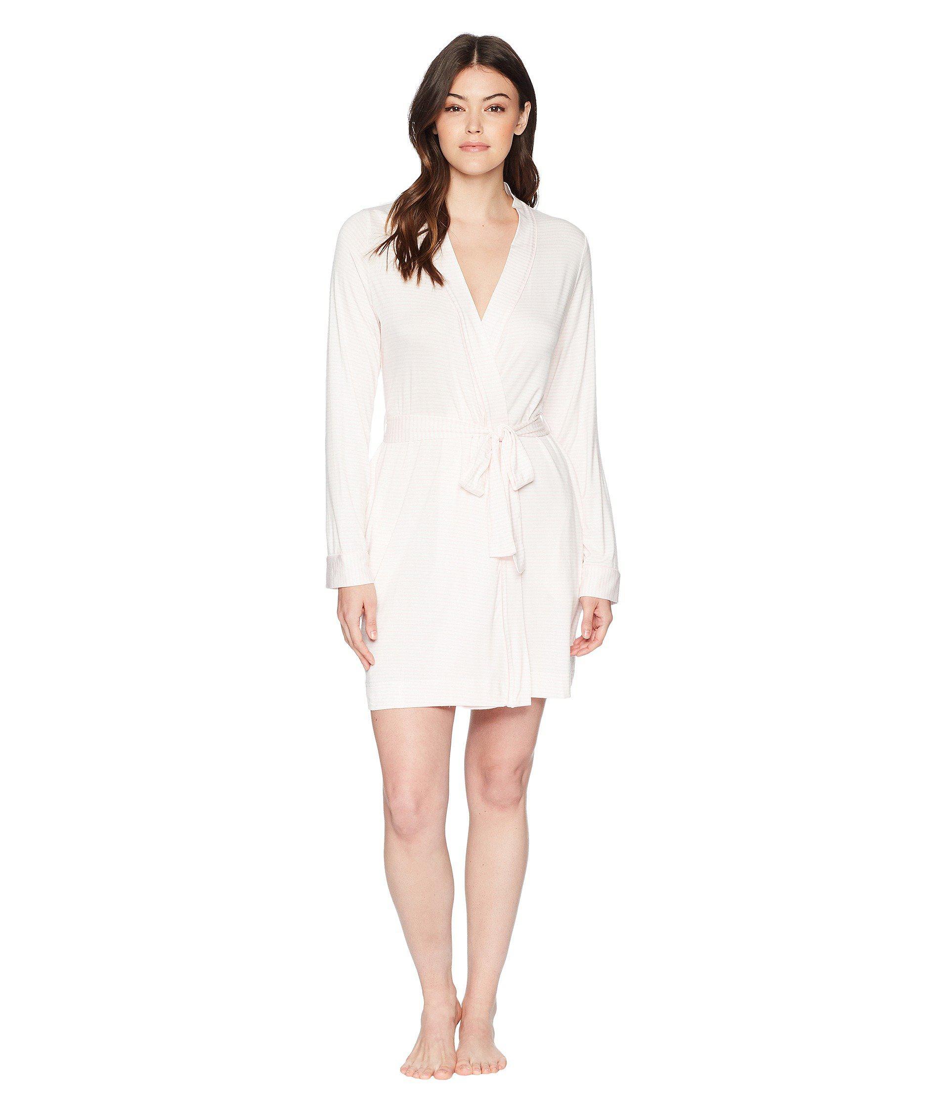 d475d1f208 Lyst - UGG Aldridge Stripe Robe (seashell Pink white) Women s Robe ...