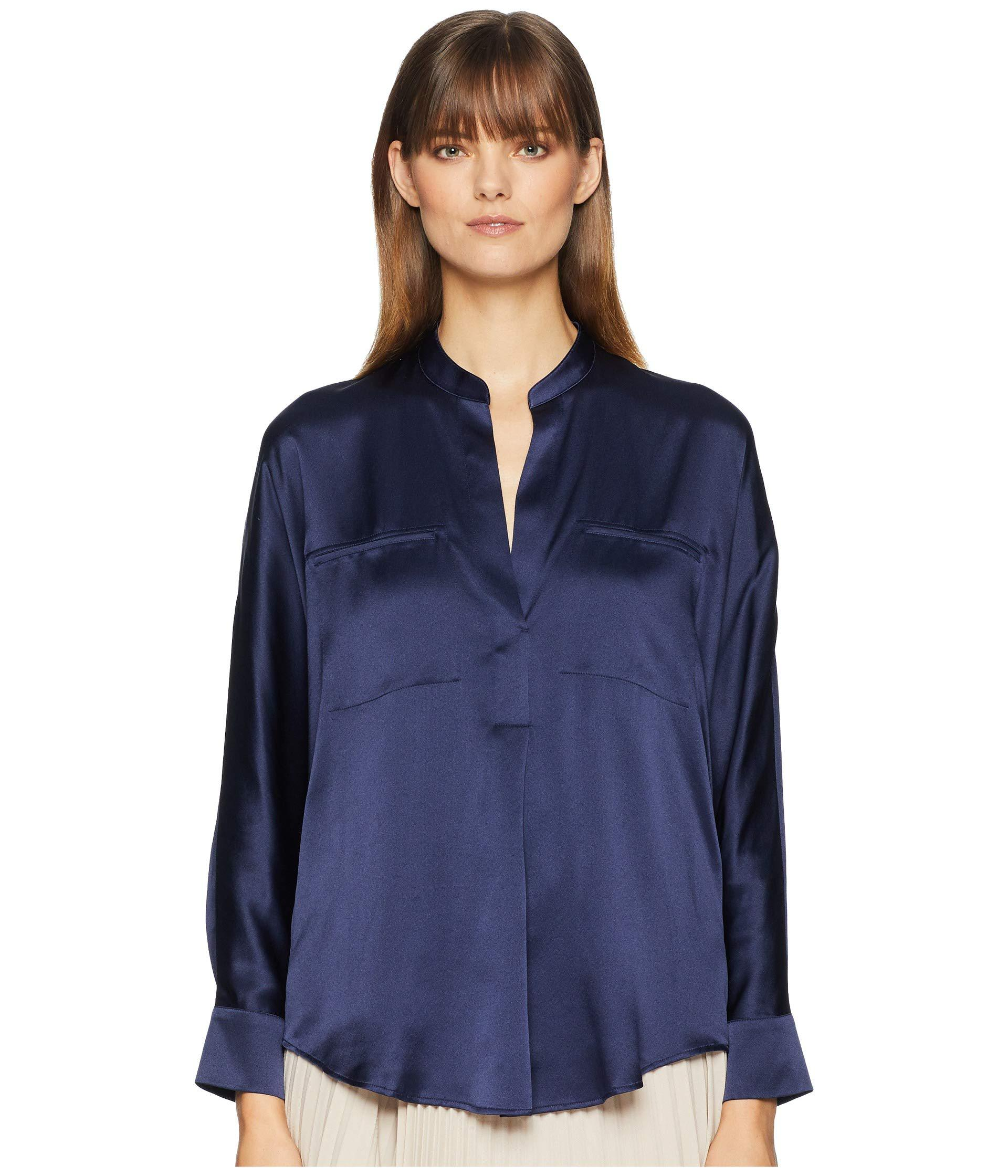 bf755c765a091 Lyst - Vince Collar Band Popover (marine Blue) Women s Clothing in Blue