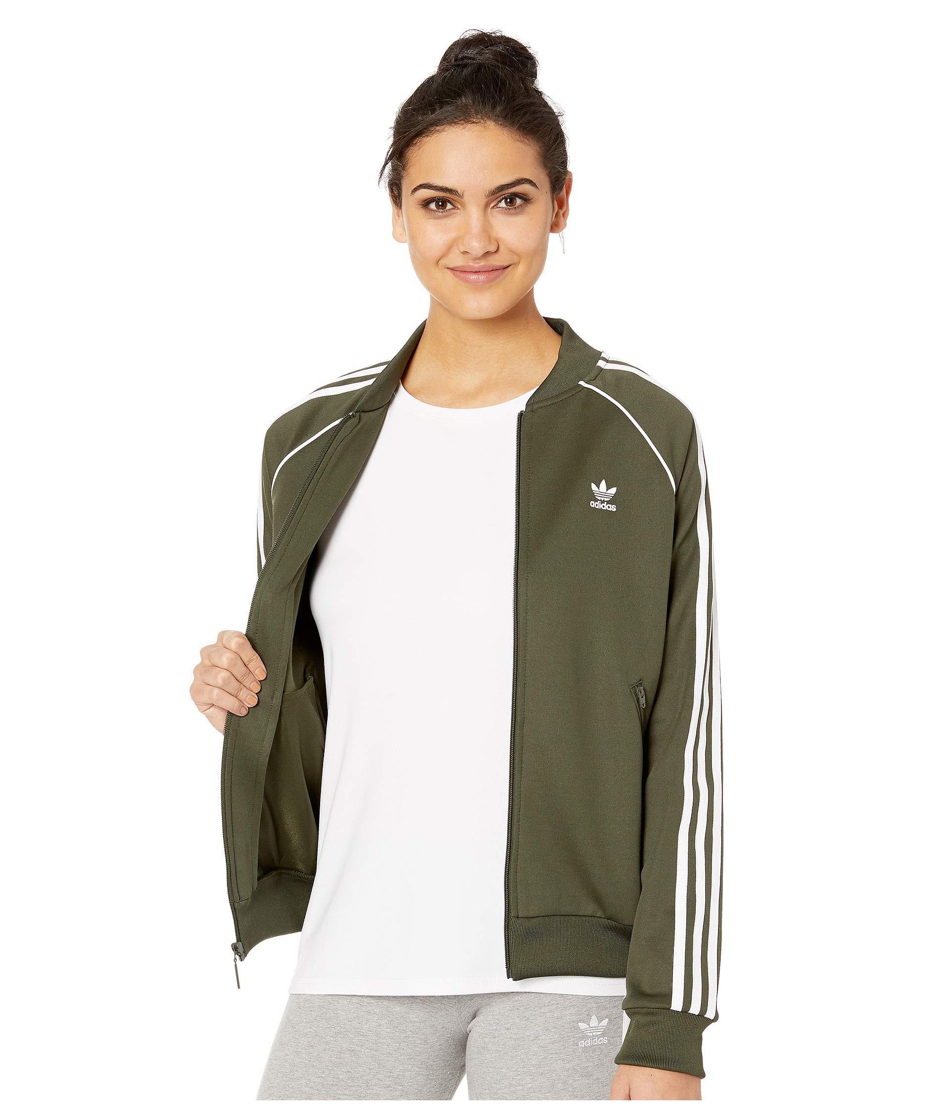 Adidas Originals Green Sst Track Jacket (multicolor 2) Women's Coat