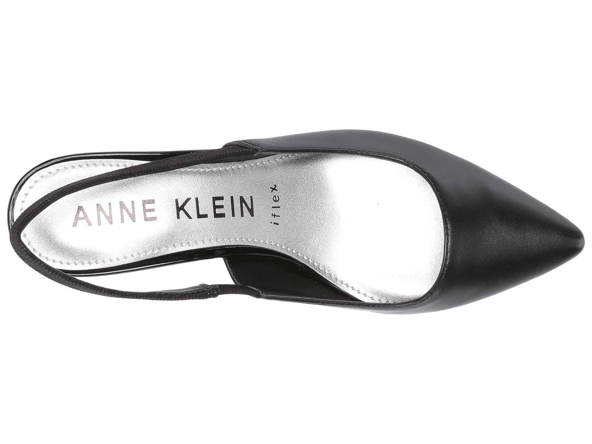 c54322d975b Anne Klein - Aileen Slingback Heel (black Leather) Women s Sling Back Shoes  - Lyst. View fullscreen