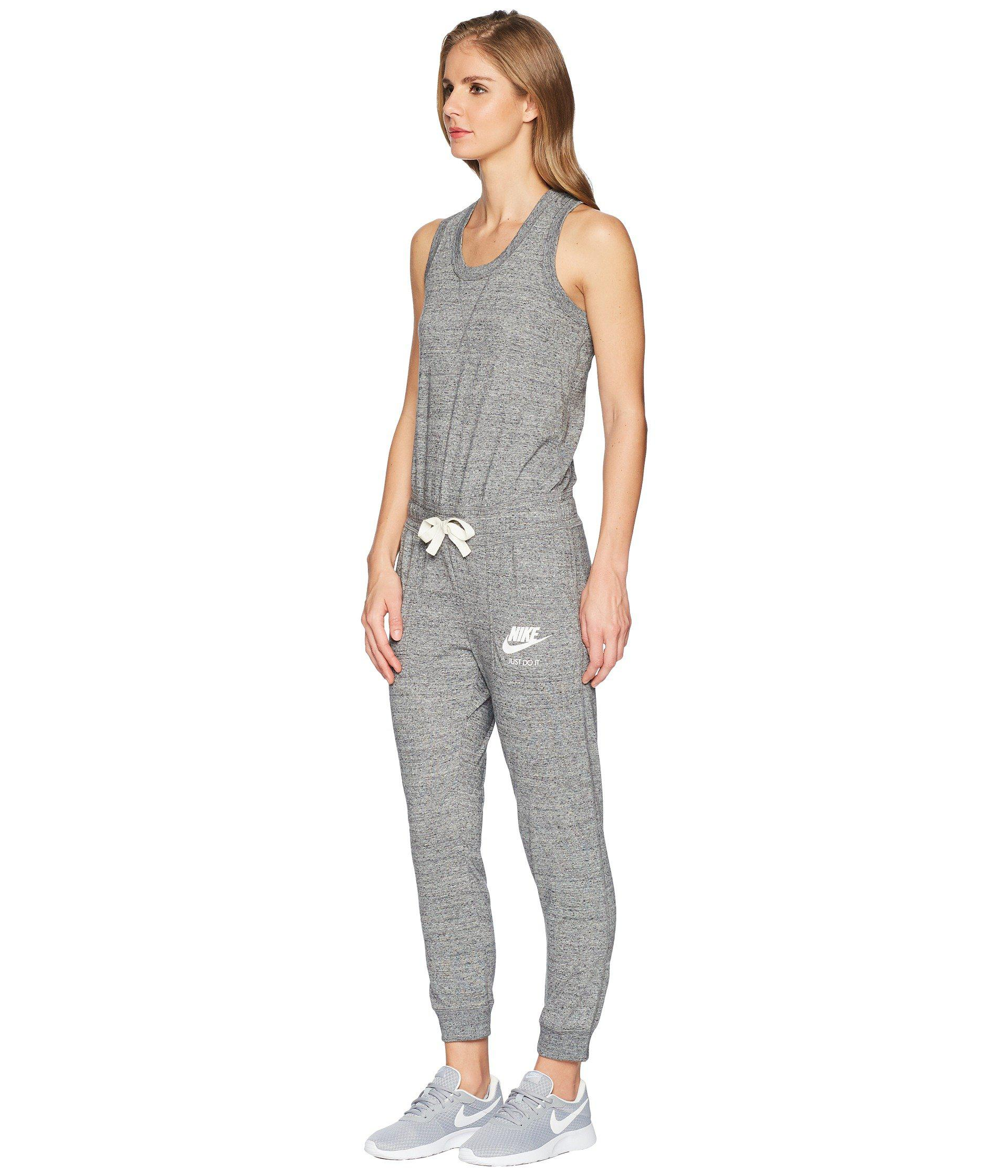 3973f38974f6 Lyst - Nike Sportswear Gym Vintage Romper (carbon Heather sail) Women s  Jumpsuit   Rompers One Piece in Gray