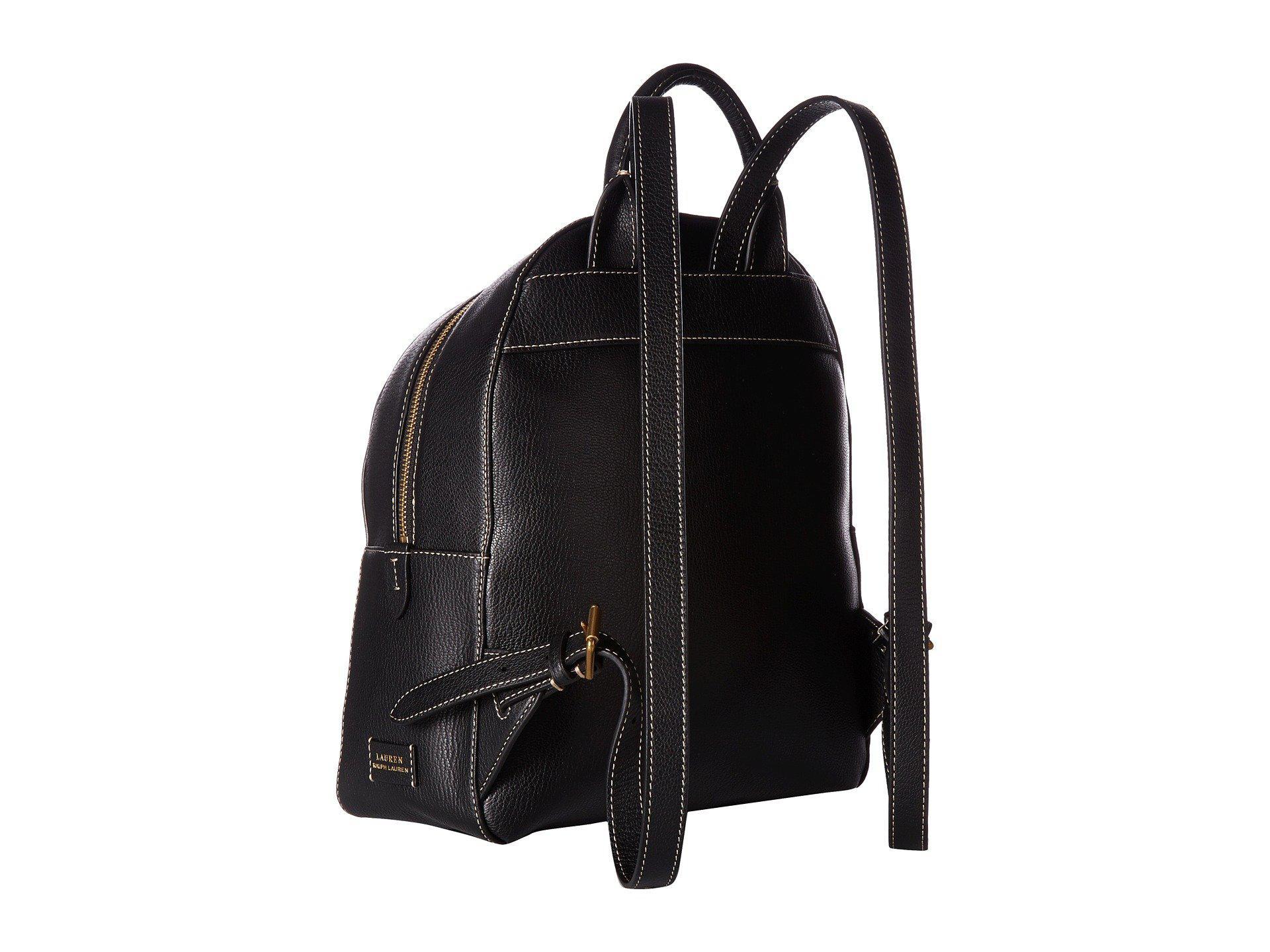 6def8ac022 Lyst - Lauren by Ralph Lauren Millbrook Backpack Medium in Black