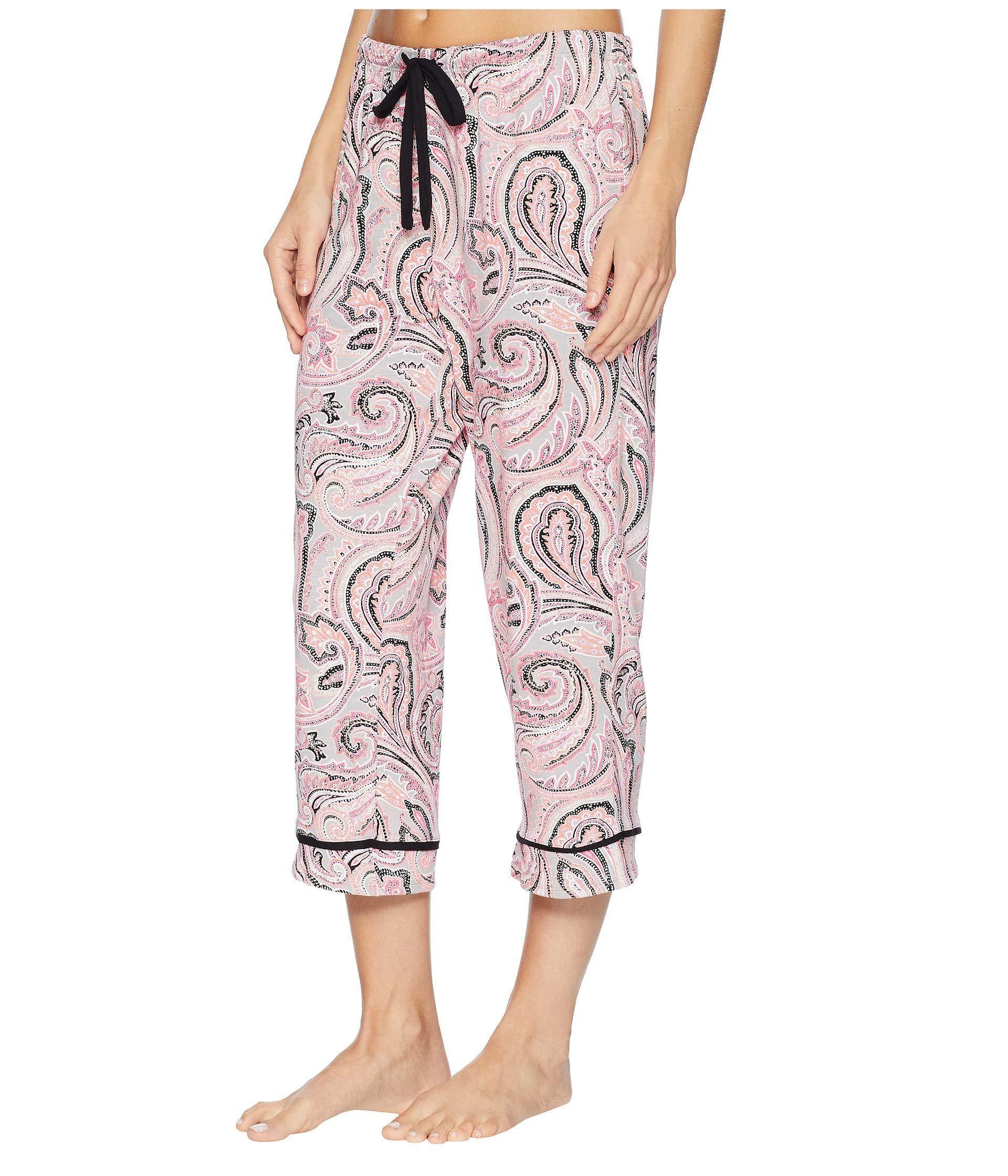 09e85cbb71 Lyst - Jockey Printed Cropped Pants (no Drama Llama) Women s Pajama in Pink
