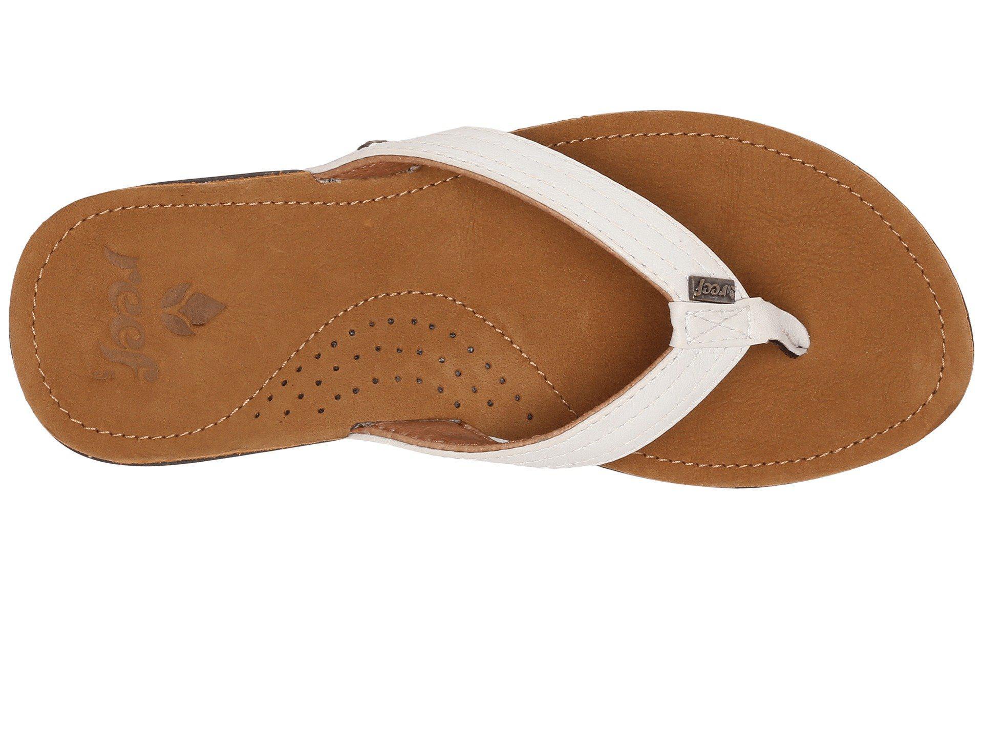 0c6d25ff09005 Reef - Brown Miss J-bay (tan white) Women s Sandals - Lyst. View fullscreen