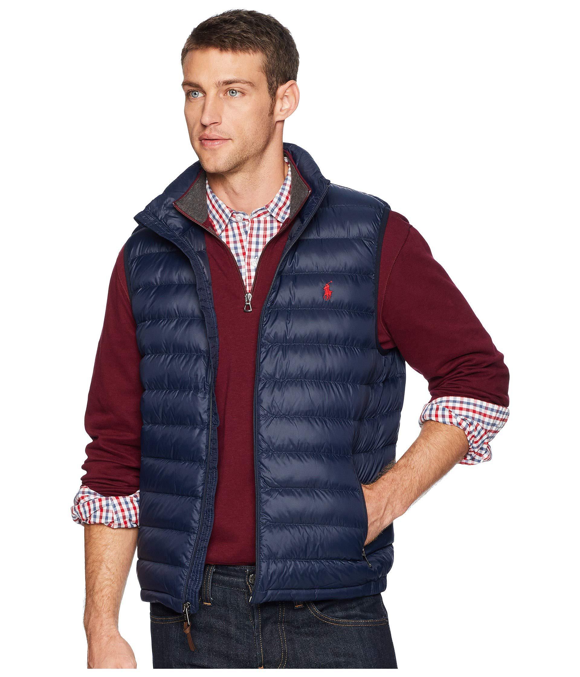 Polo Ralph Lauren Synthetic Lightweight Packable Down Vest ...