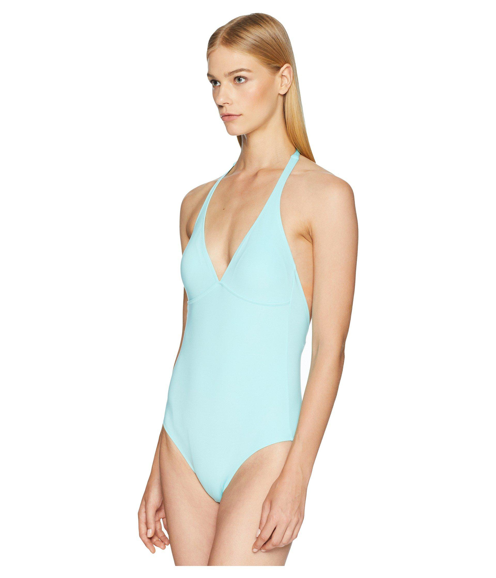 4ec9800b3e22c Lyst - Vilebrequin Solid Water Fames Swimsuit (seychelles) Women s  Swimsuits One Piece in Blue
