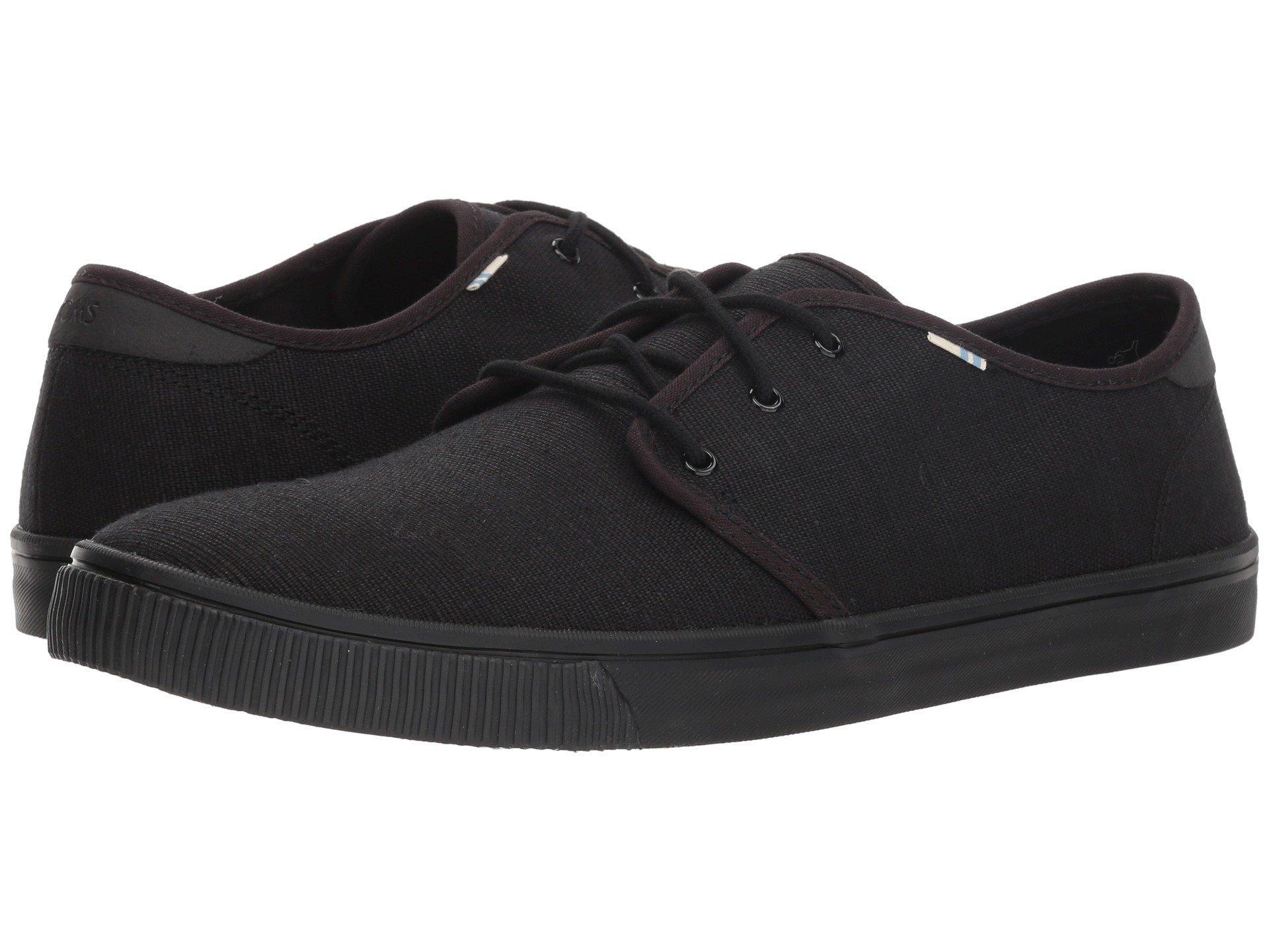 2c3c96a1459 TOMS. Black Carlo (navy Airforce Blue Heritage Canvas (vegan)) Men s Lace  Up Casual Shoes