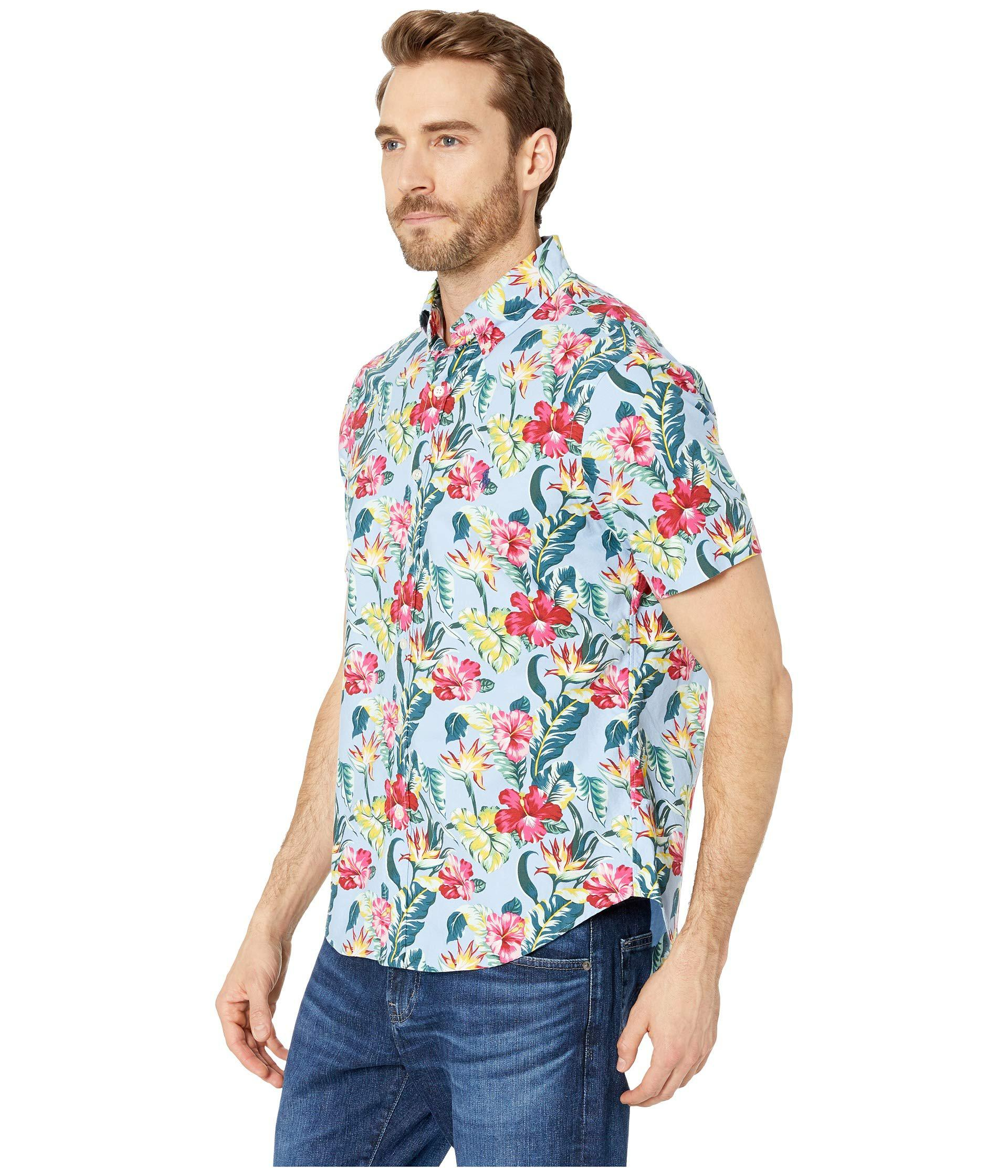 d954a0df Polo Ralph Lauren Short Sleeve Oxford Printed Classic Fit Sport Shirt (paradise  Floral) Men's Short Sleeve Pullover in Blue for Men - Save 22% - Lyst
