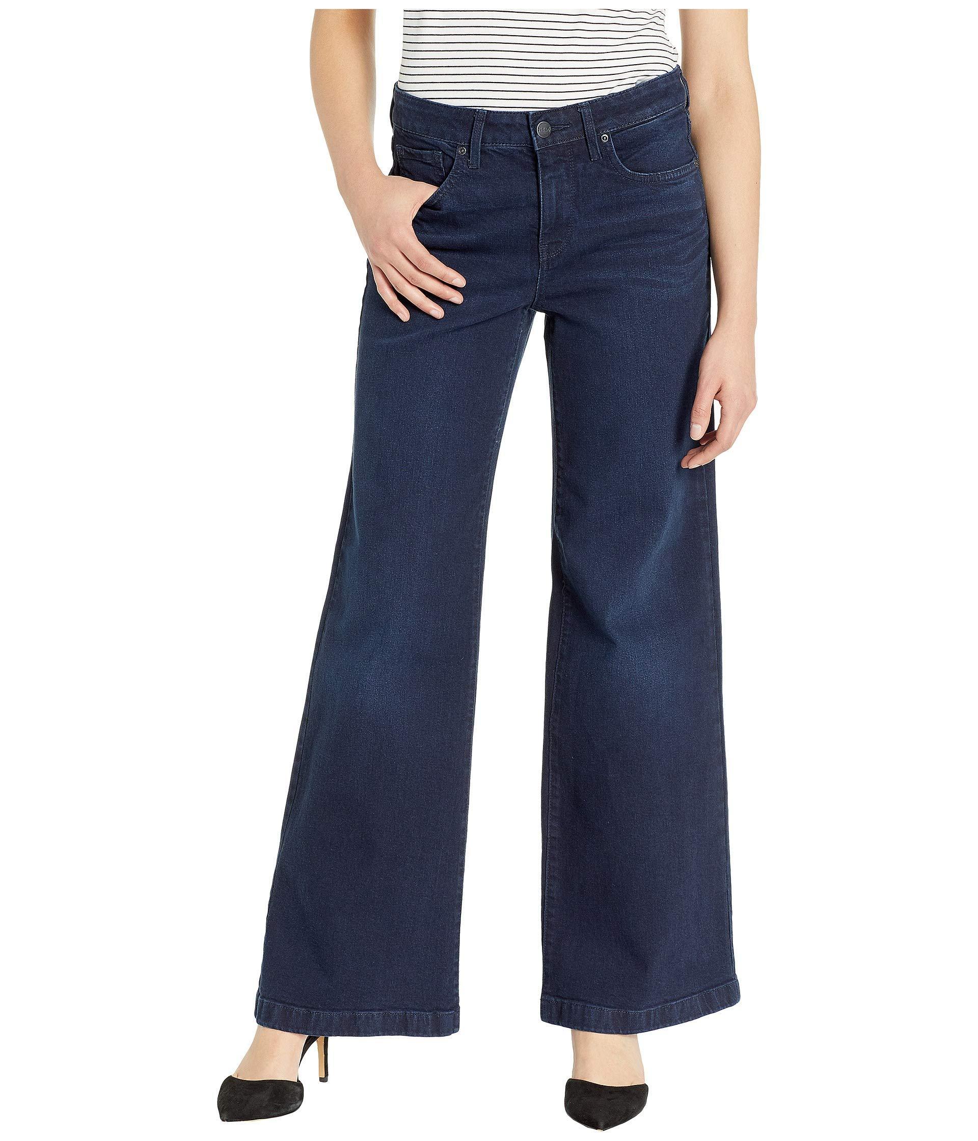 9bac10def03e2 Lyst - NYDJ Wide Leg Trousers In Bixby (bixby) Women s Jeans in Blue