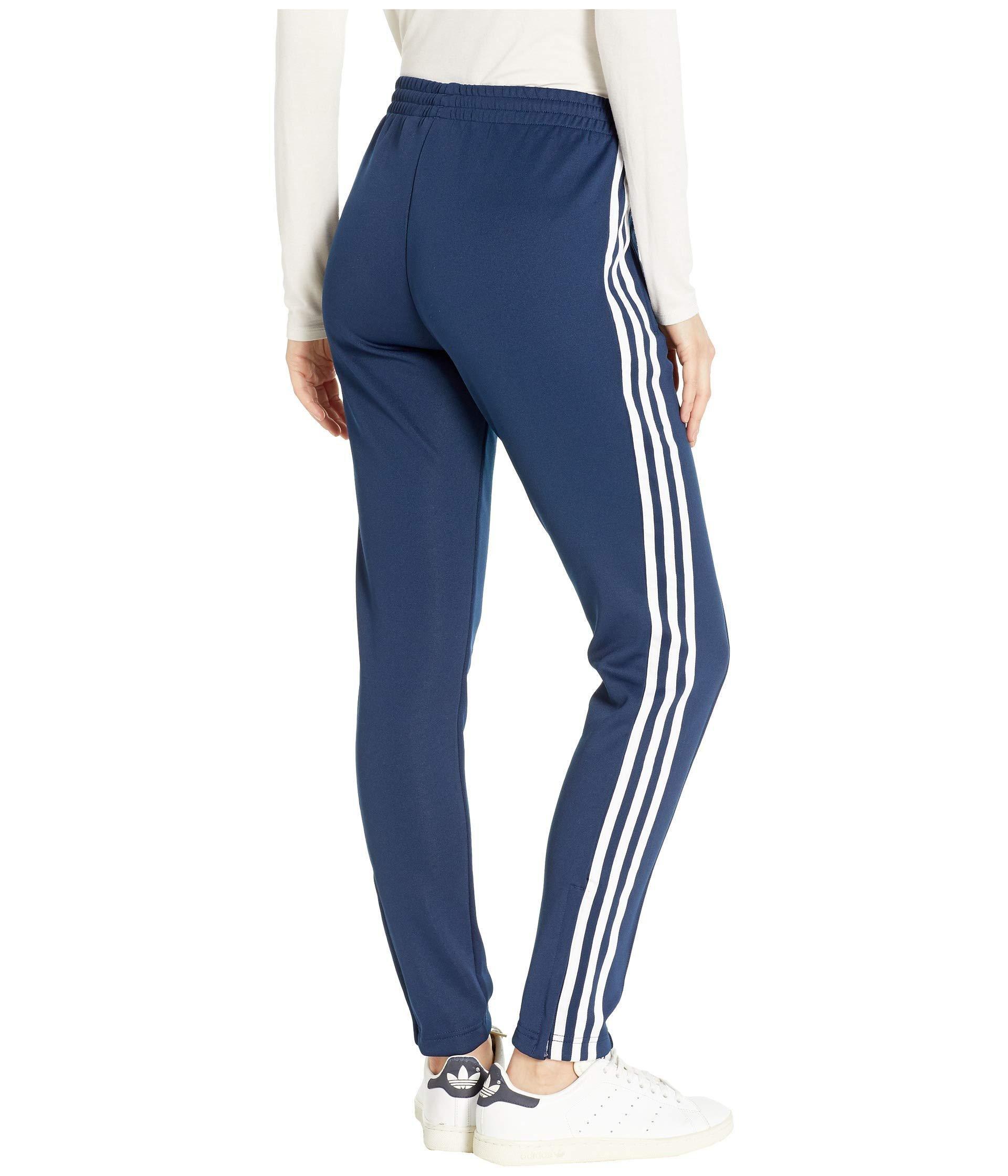 Adidas Originals Synthetic Sst Track Pants Dark Blue Women S