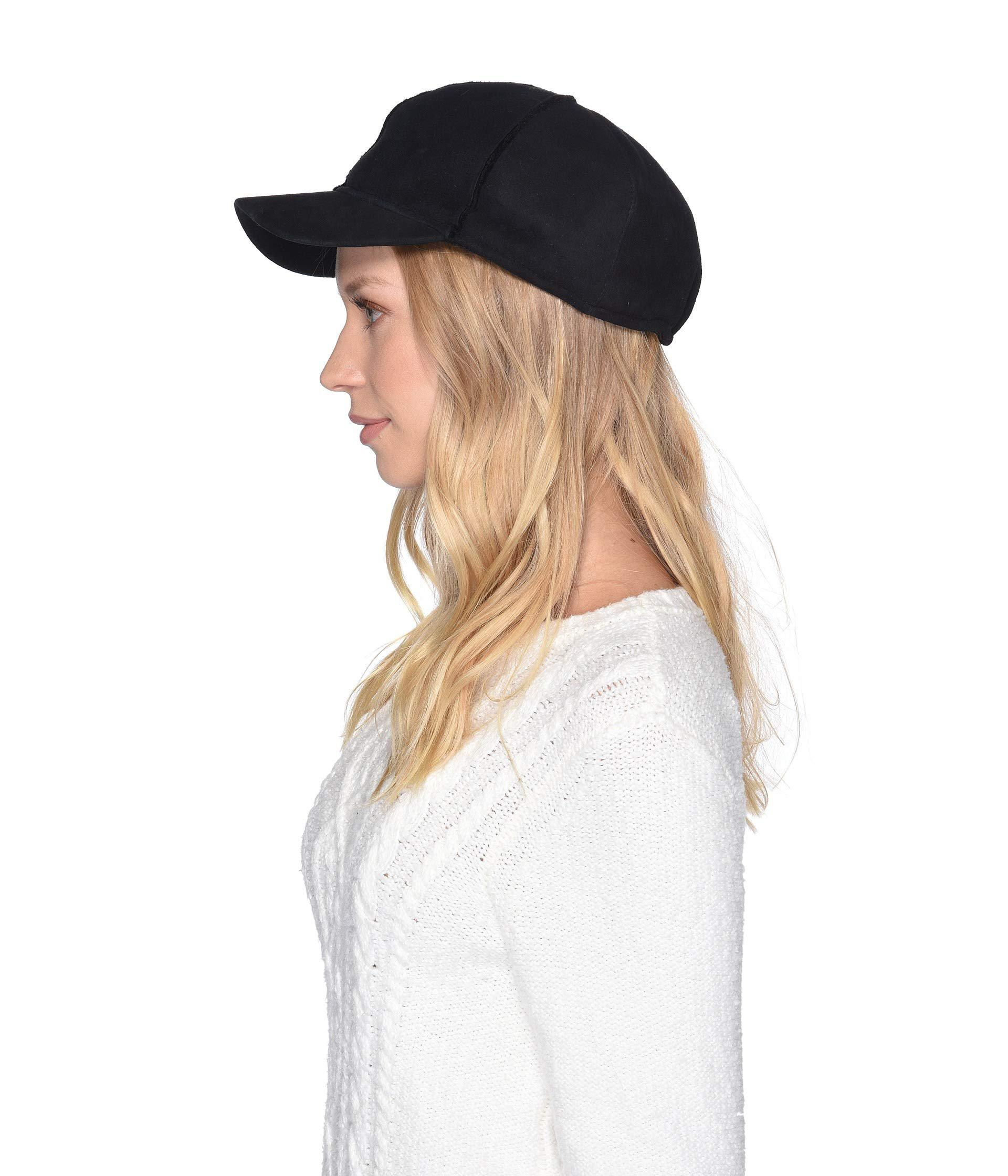 39780a303 Women's Exposed Seam Water Resistant Sheepskin Cap (black) Caps