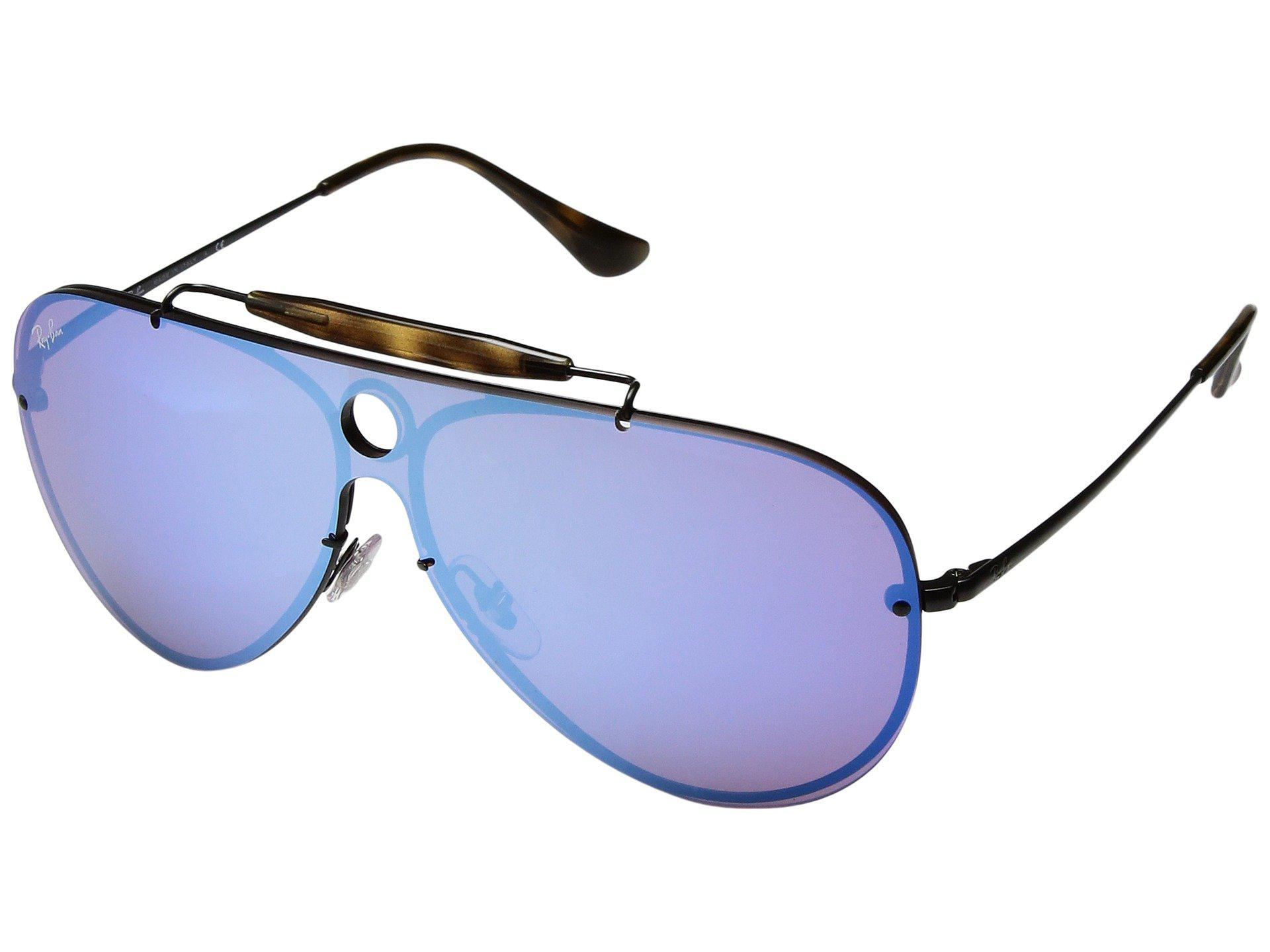 47178f6077 Lyst - Ray-Ban Blaze Shooter Rb3581n 32mm (black dark Blue Mirror ...