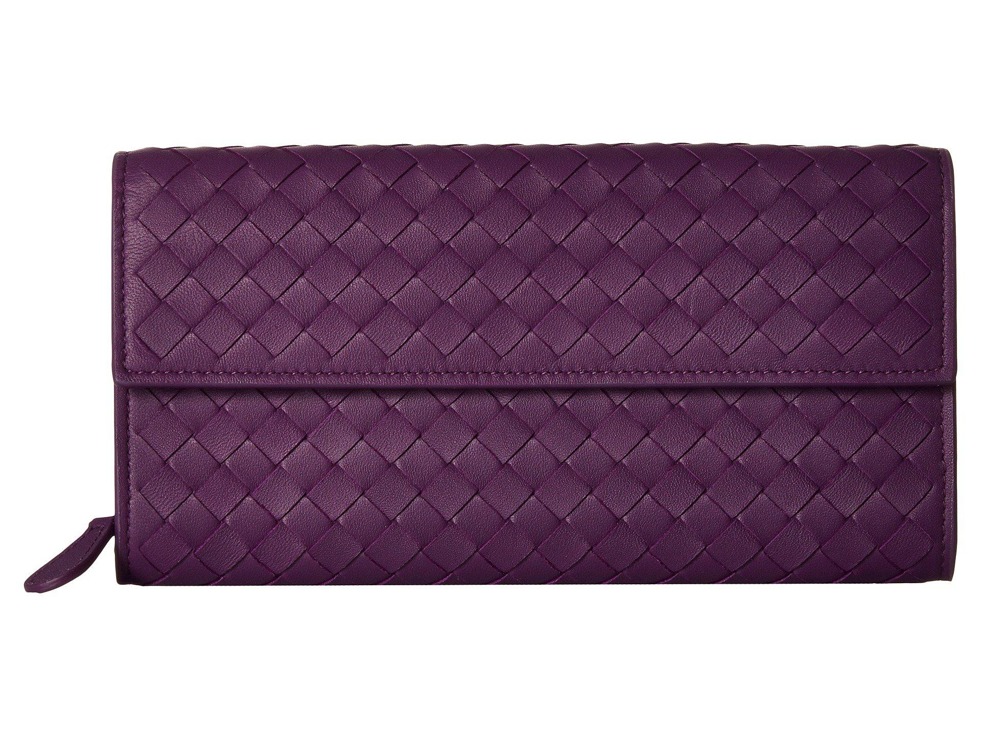 56543d250de9 Lyst - Bottega Veneta Intrecciato Flap Coin Purse Wallet (dark ...