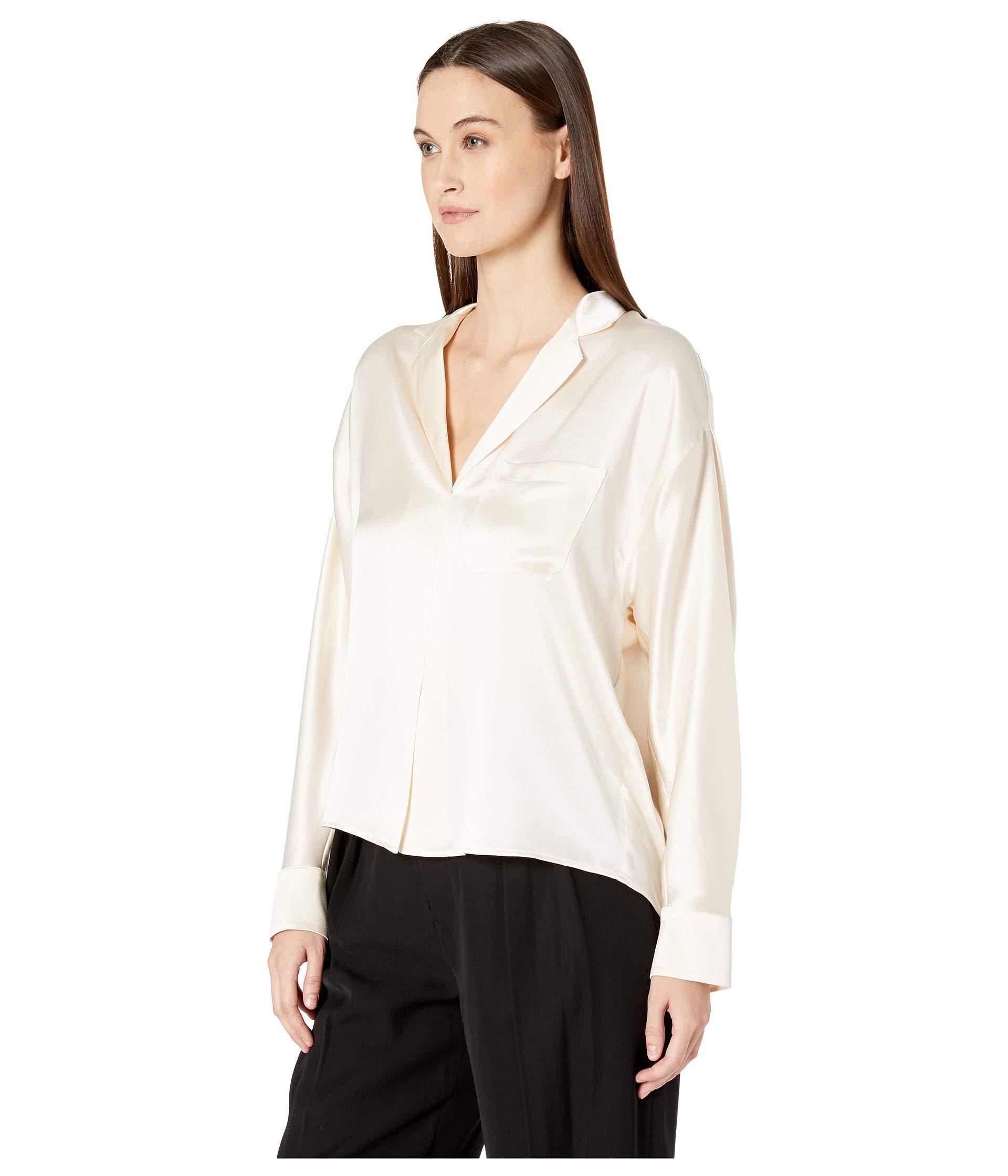 ccf79834aea4d Lyst - Vince Pajama Popover (chiffon) Women s Blouse in White