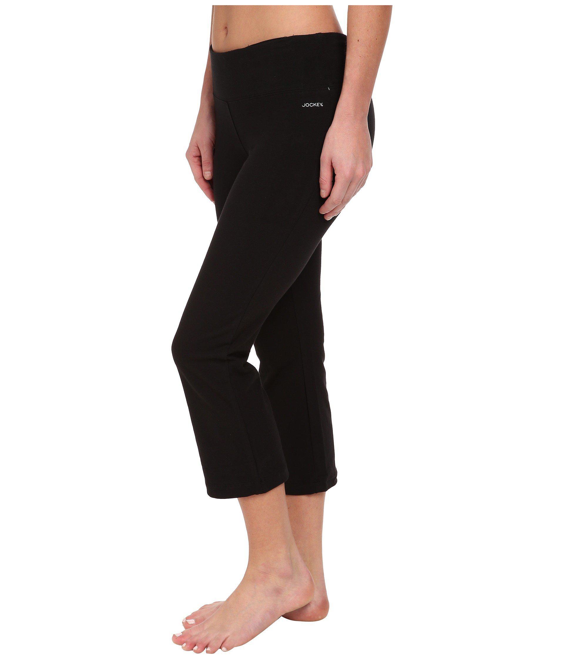 35c861f0e9a58 Lyst - Jockey Active Slim Capri Flare (black) Women's Capri in Black
