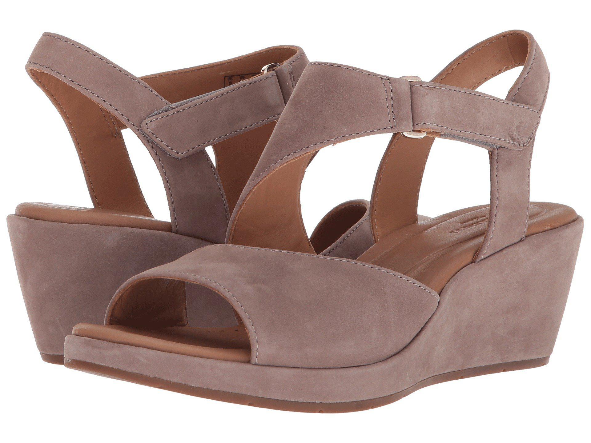 d2e9ead531c Lyst - Clarks Un Plaza Sling (black Nubuck) Women s Wedge Shoes in Brown