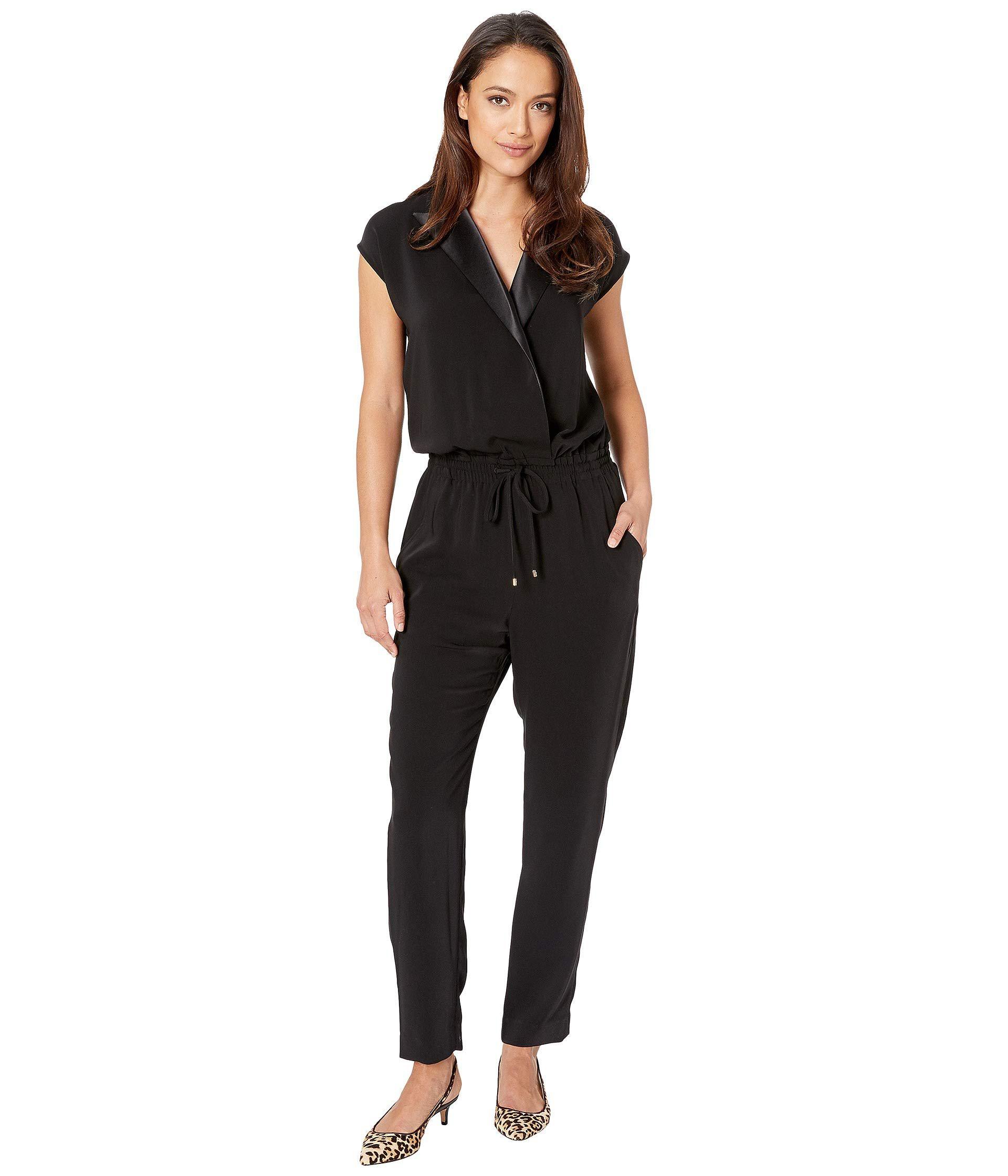c16b69dc45f Lyst - Lauren by Ralph Lauren Crepe Jumpsuit (polo Black) Women s ...