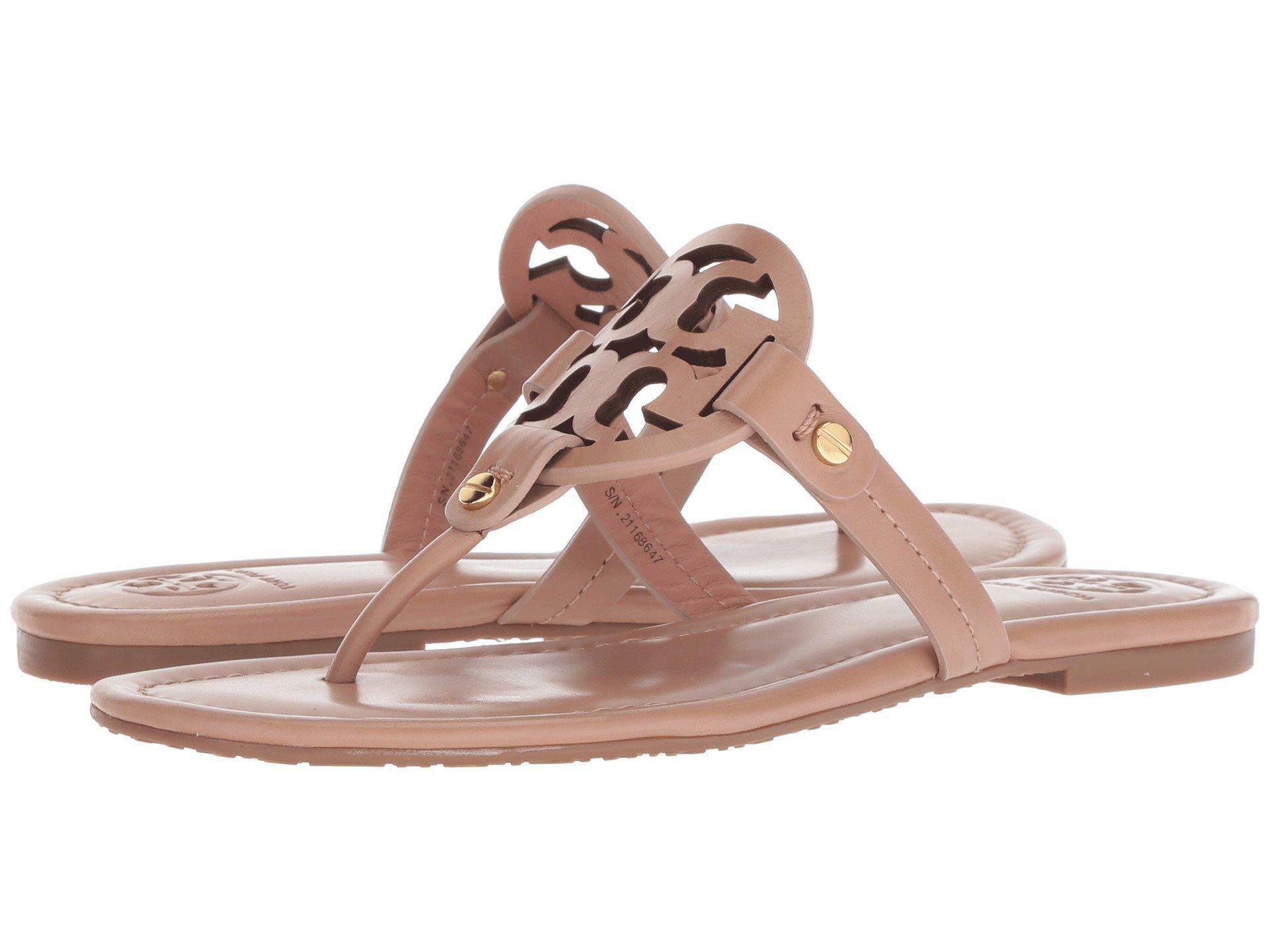 593a8ff3f3260e Lyst - Tory Burch Miller Flip Flop Sandal (light Makeup) Women s Shoes