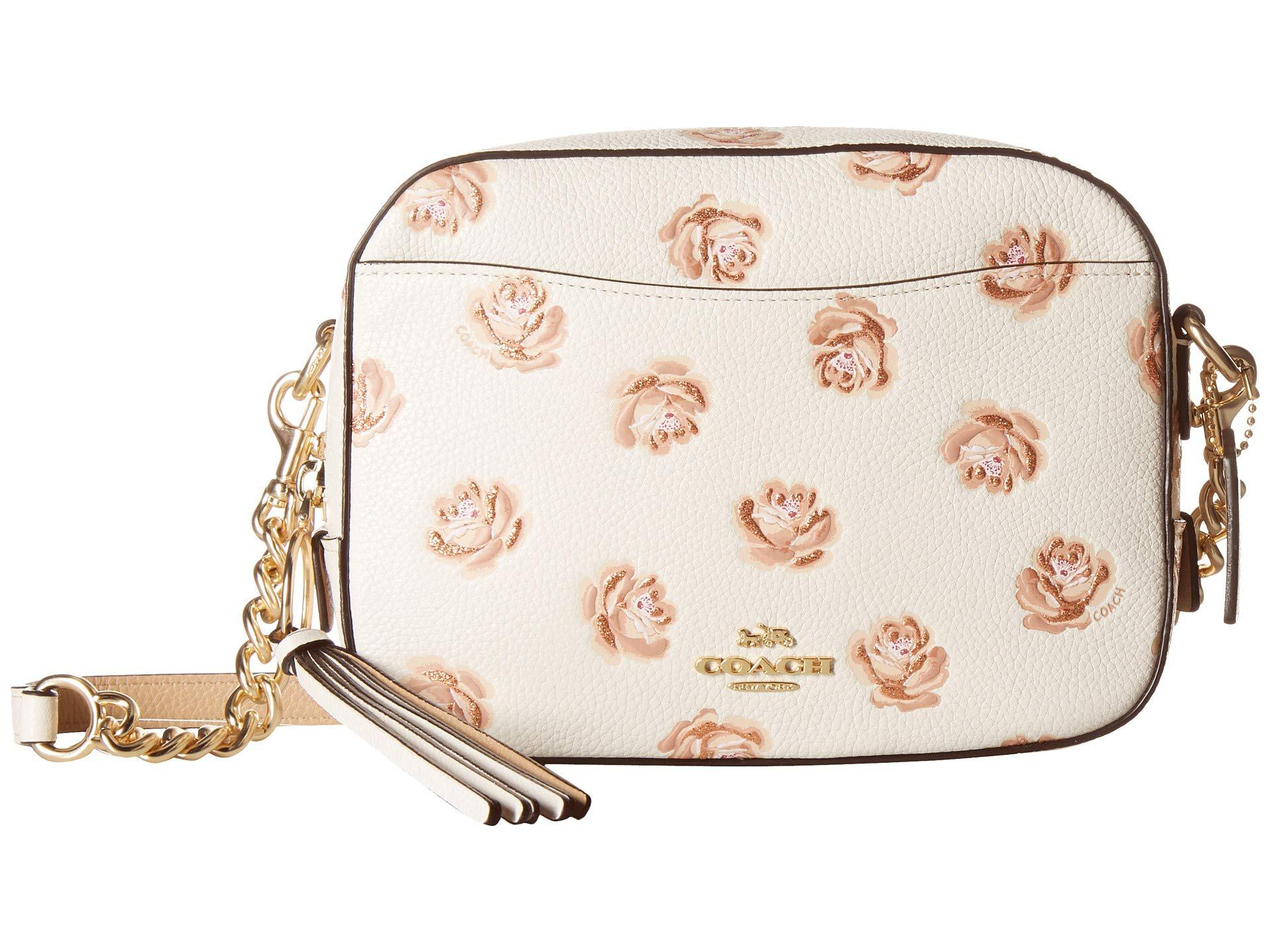 a7b4f3d0a68 Women's Camera Bag In Floral Printed Leather (sv/sky) Bags