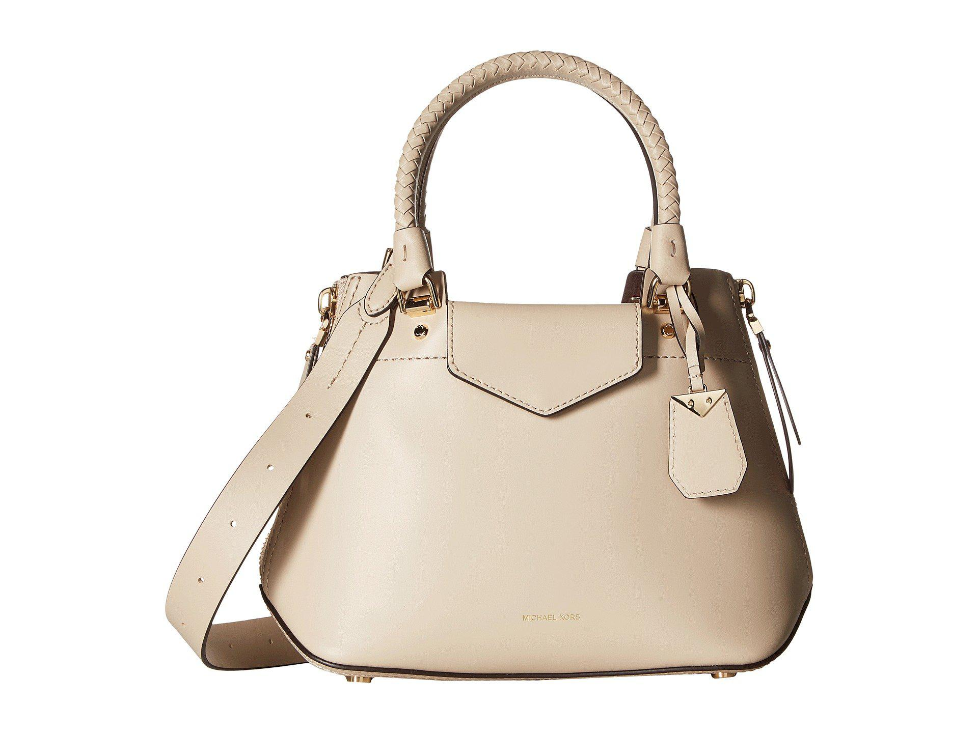 9394b02ffaf2 best lyst michael michael kors blakely medium messenger in natural 25170  ba934
