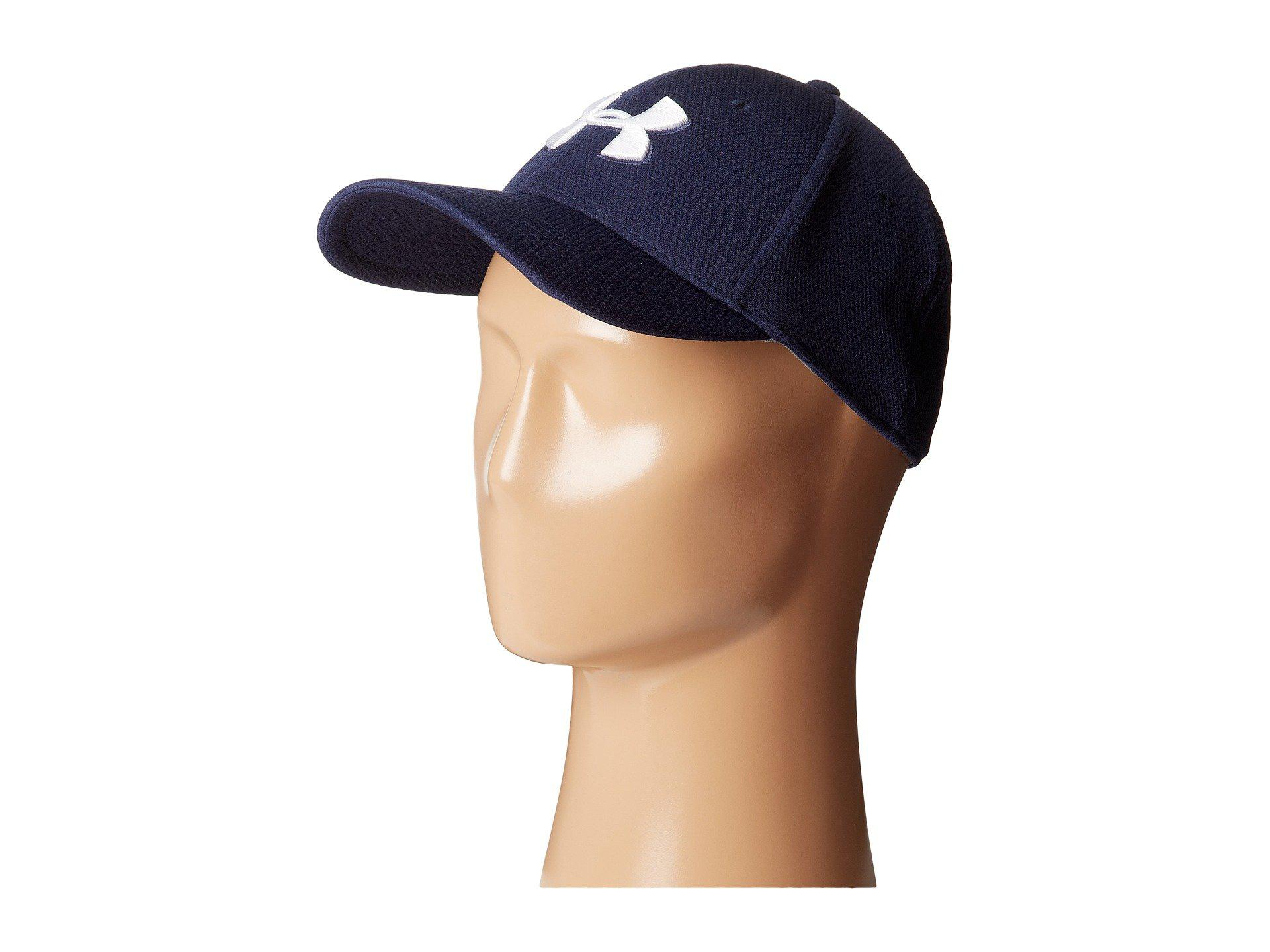 53d77d4f Lyst - Under Armour Ua Blitzing Ii Stretch Fit Cap in Blue for Men