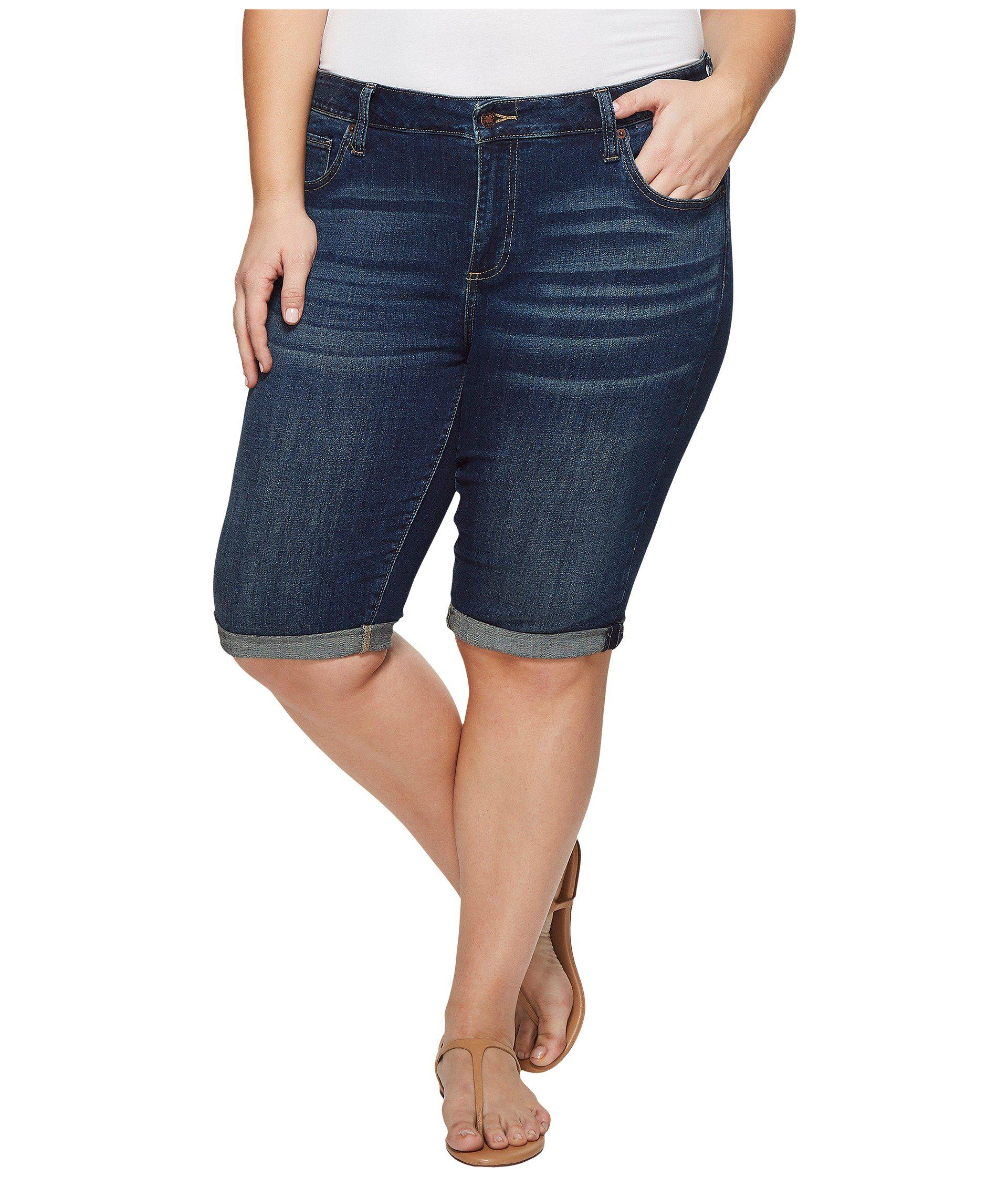 Lucky Brand Womens Plus Size Mid Rise Ginger Bermuda Short in Bear Lake Bermuda Shorts