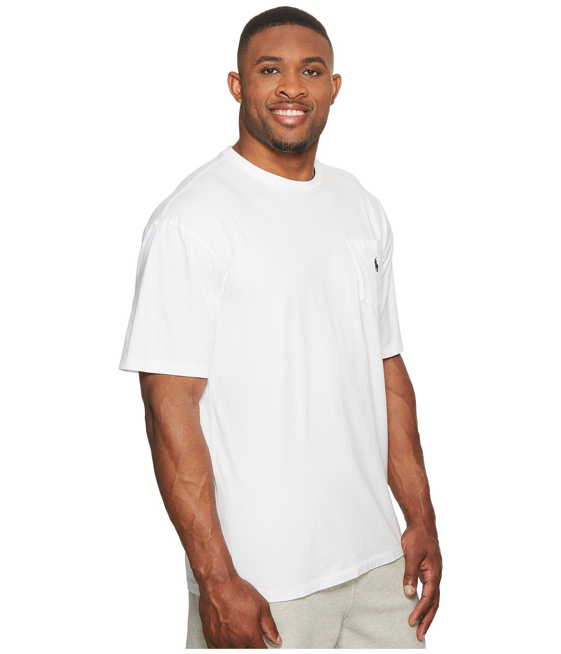 ab969eb2b White Big And Tall Classic Fit Crew Neck Pocket T-shirt (ink) Men's T Shirt