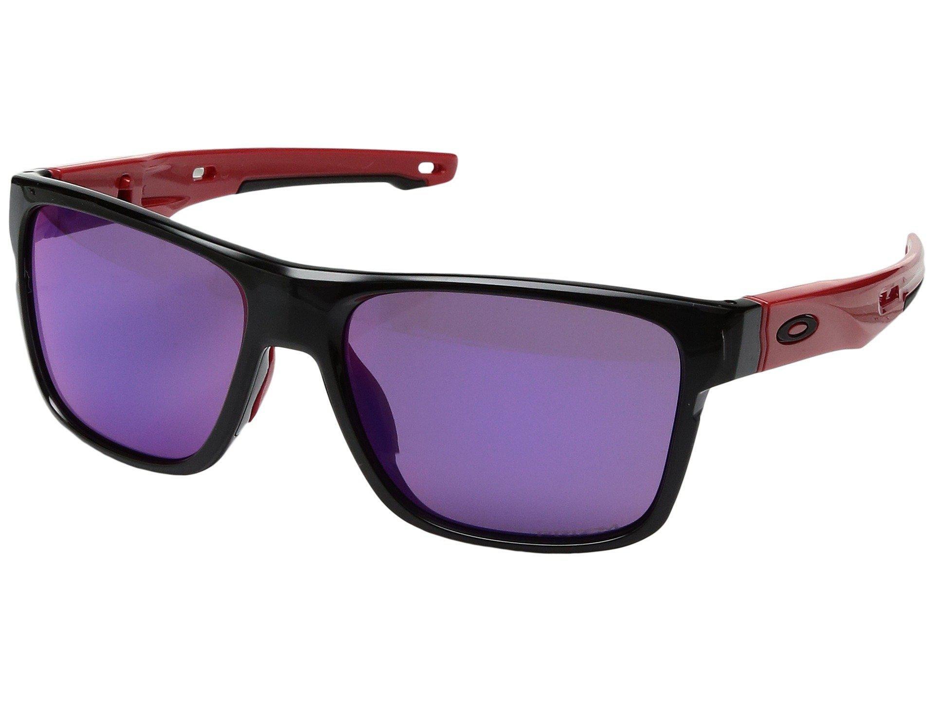 2cb508b1eab Lyst - Oakley Crossrange (polished Black W  Grey) Fashion Sunglasses