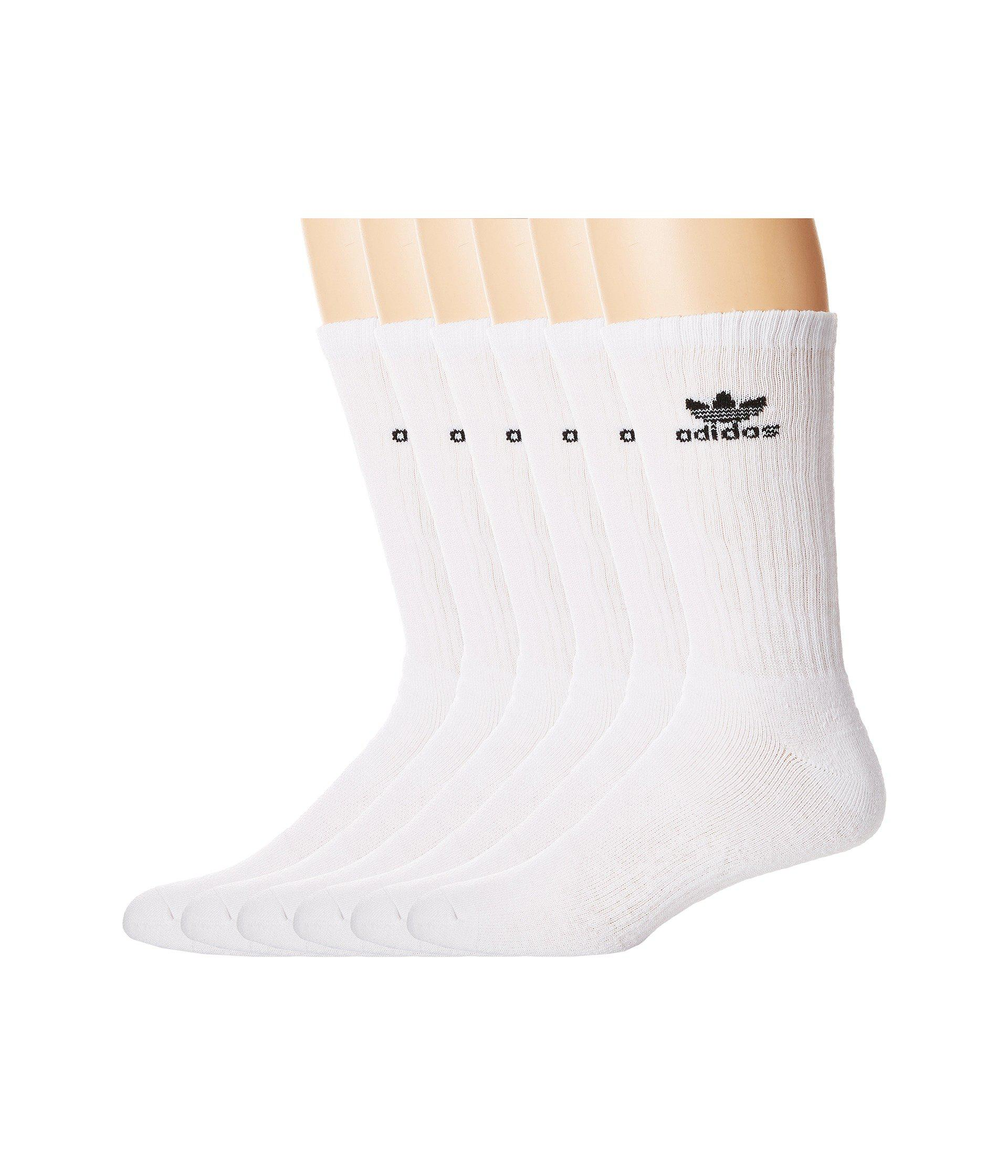 8d2f66781cf848 Lyst - adidas Originals Originals Trefoil Crew Sock 6-pack (white ...