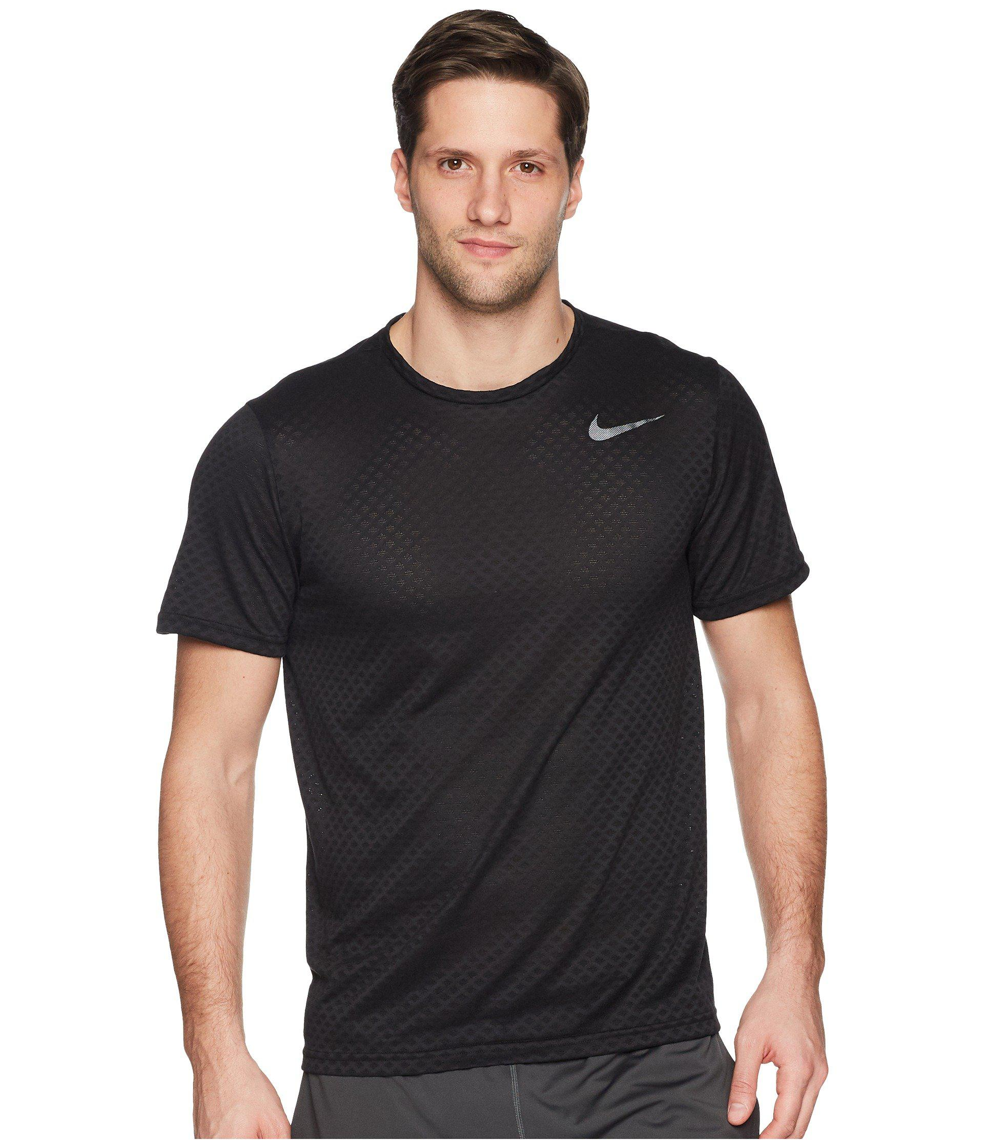 19da12ec46e7 Lyst - Nike Brt Top Short Sleeve Vent in Black for Men