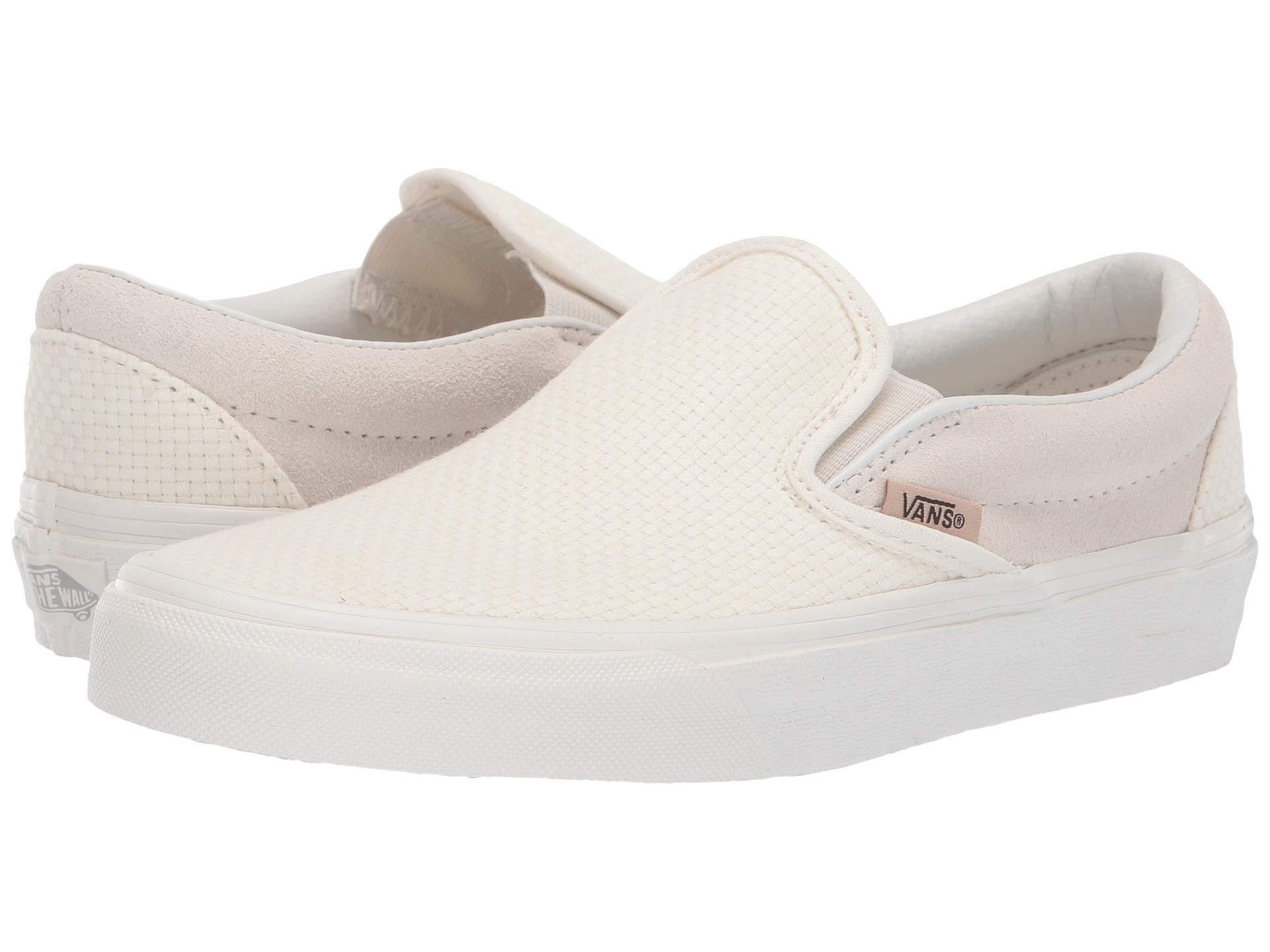 fcc1b77b7db7 Vans. Women s Classic Slip-ontm ((embossed Suede) Sequoia true White) Skate  Shoes